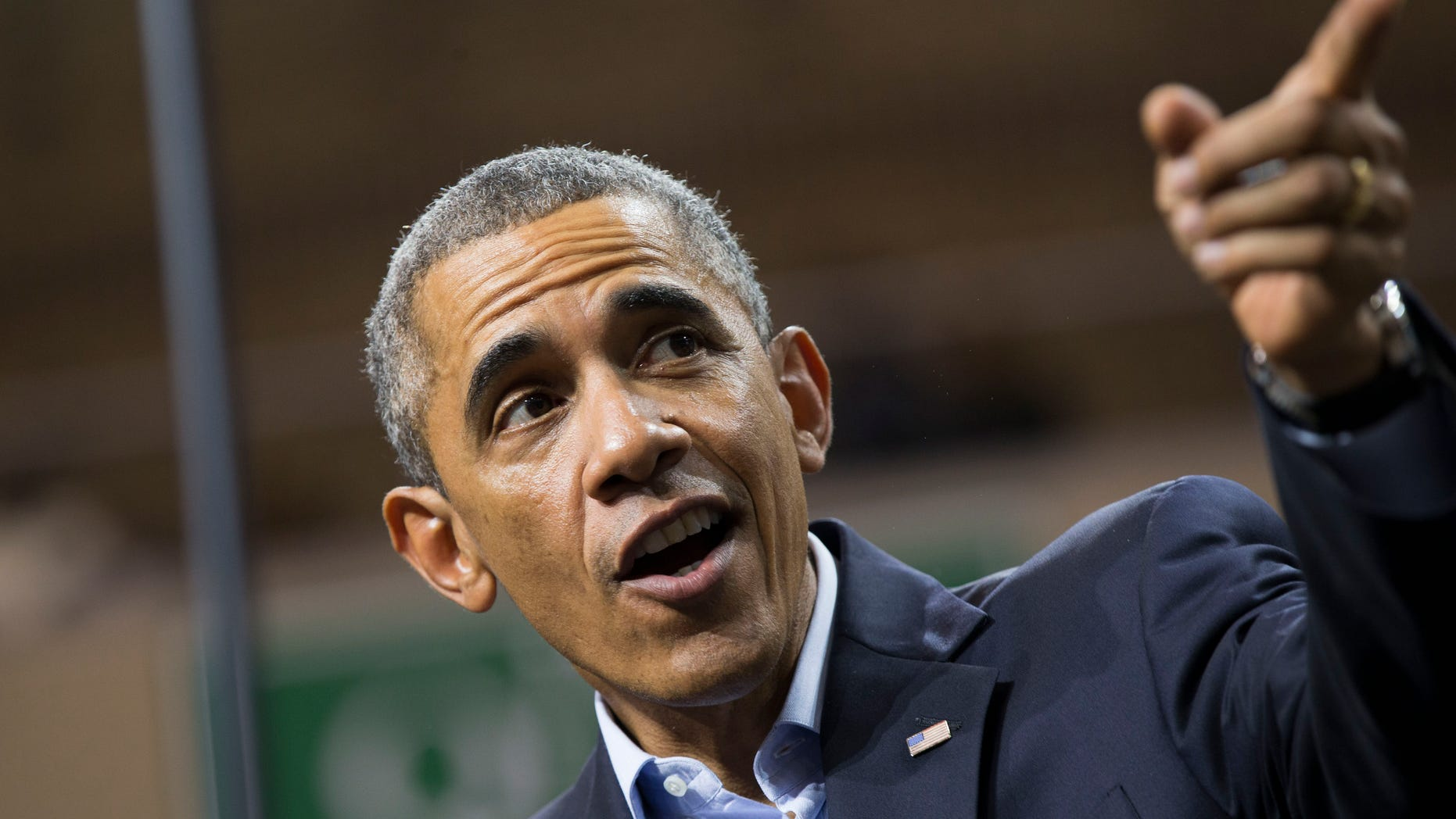 Oct. 19, 2014: President Obama delivers remarks during a campaign rally at Chicago State University.