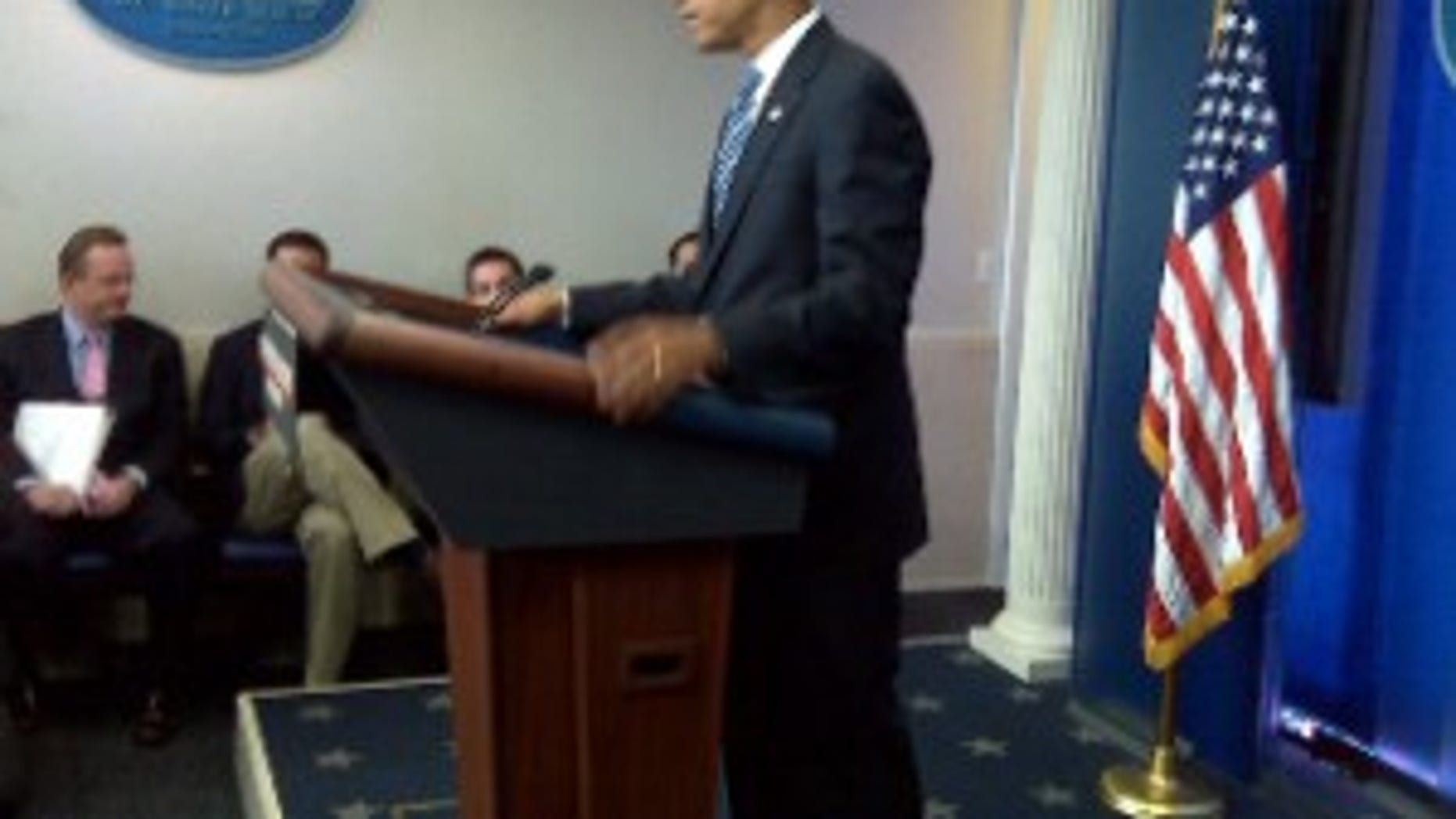 President Obama in the Brady Press Briefing Room, July 24, 2009