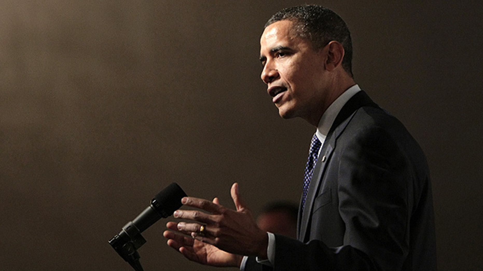 Feb. 24: President Obama discusses the economy at the St. Regis Hotel in Washington.