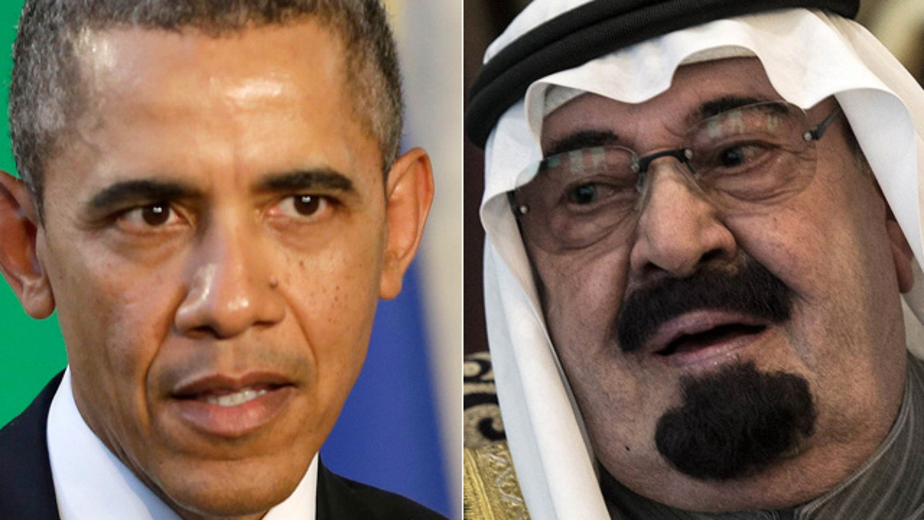 President Obama, left, and Saudi Arabia's King Abdullah.