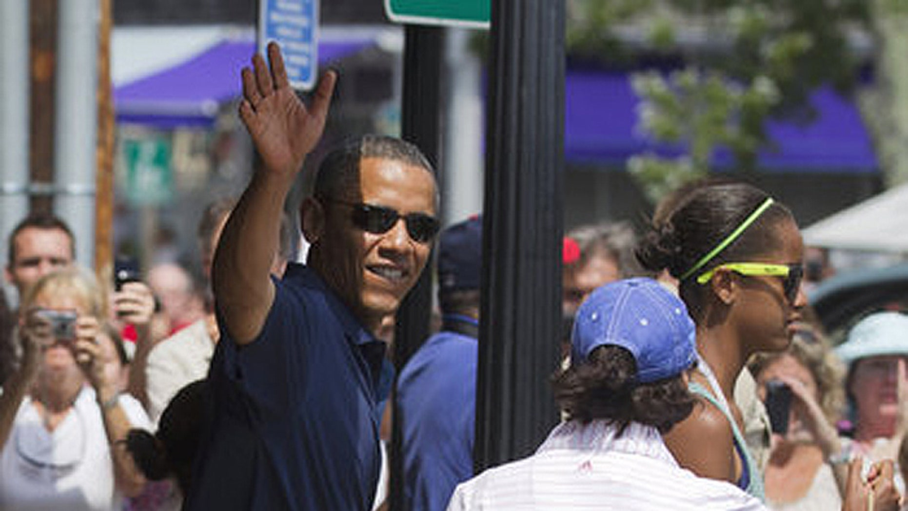 The president is a lot more popular on Martha's Vineyard than the men and women who guard him.