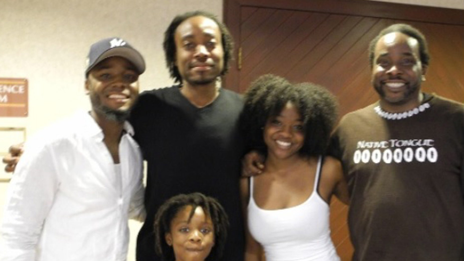 Okera Ras (far right) and son Duro Akil (second from the left) with family members.