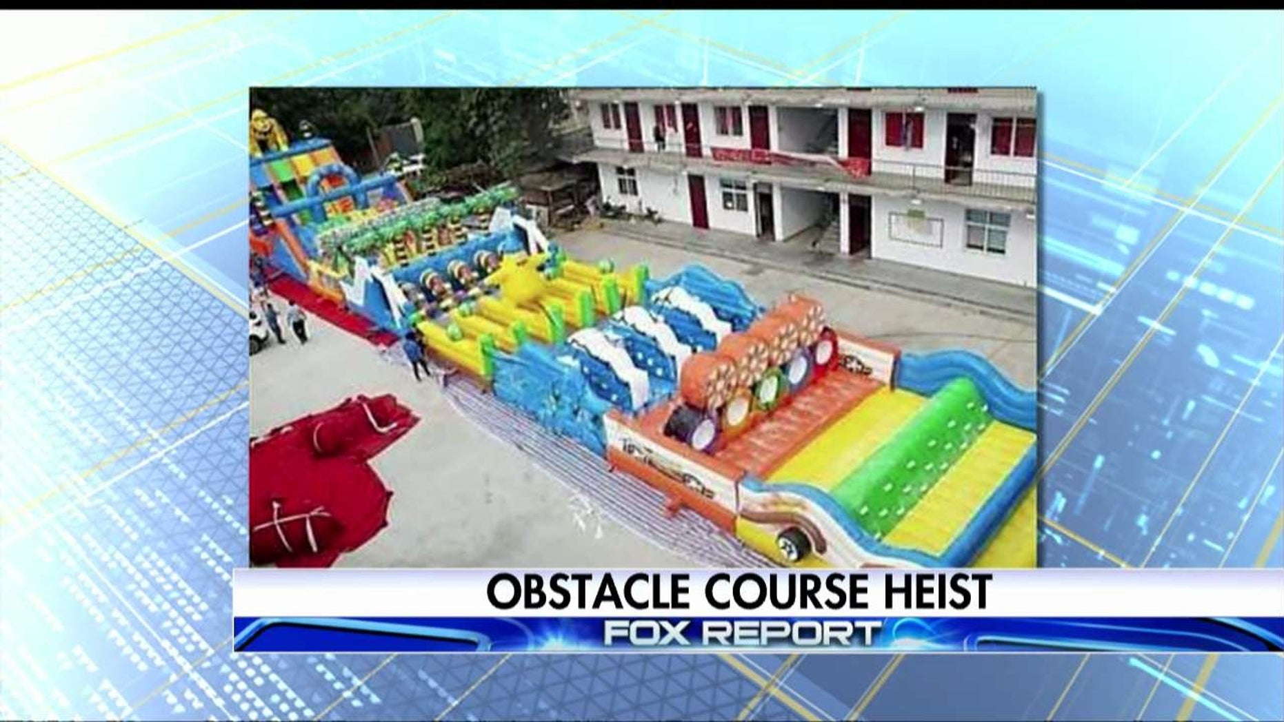 Phoenix police are investigating the theft of a massive inflatable obstacle course that went missing on May 7 of May 8. The obstacle course is valued at $35,000.