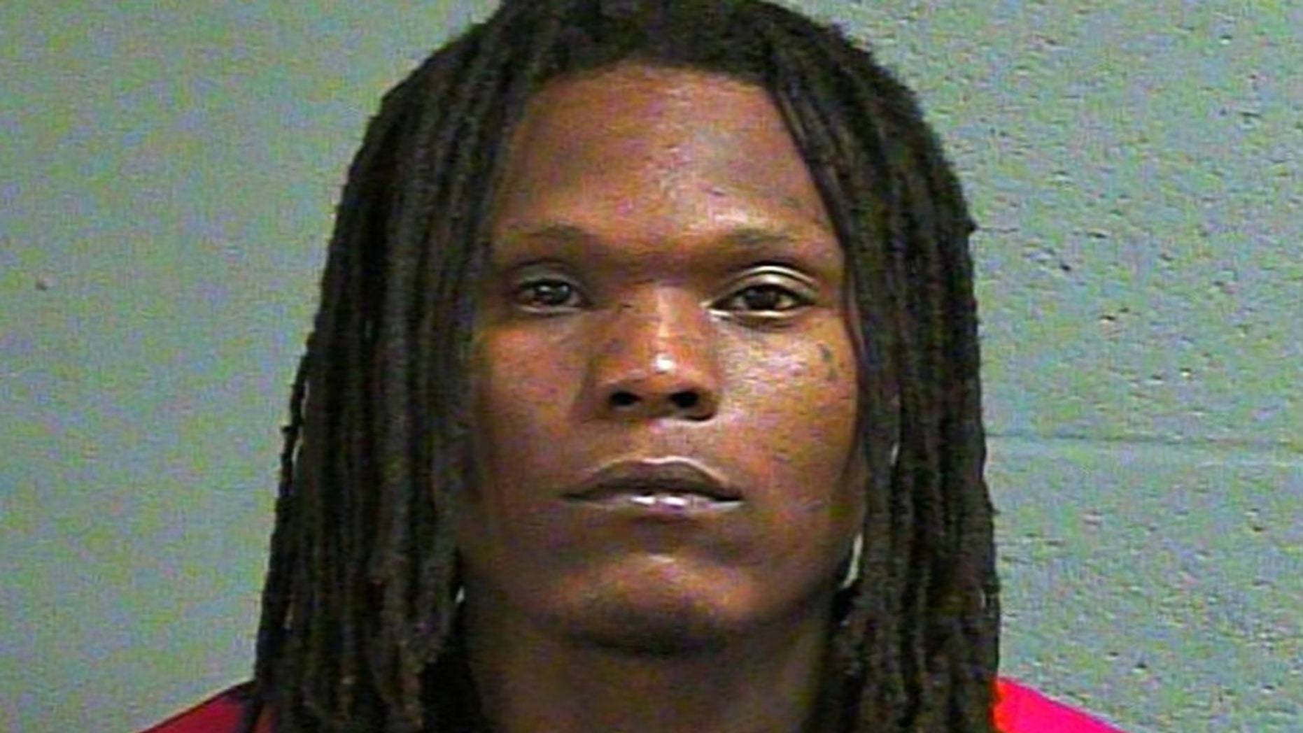 Jerome Thompson allegedly charged at a security guard with steak knives.