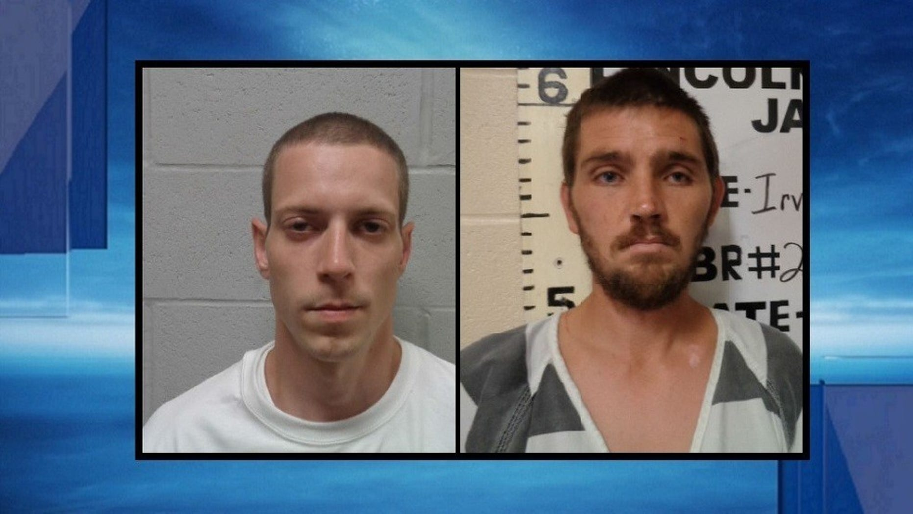 Pottawatomie County Sheriffs confirmed they have 2 Oklahoma jail escapees in custody, Trey Glenn Goodnight, 27 (right) and Jeremy Tyson Irvin, 31 (left).