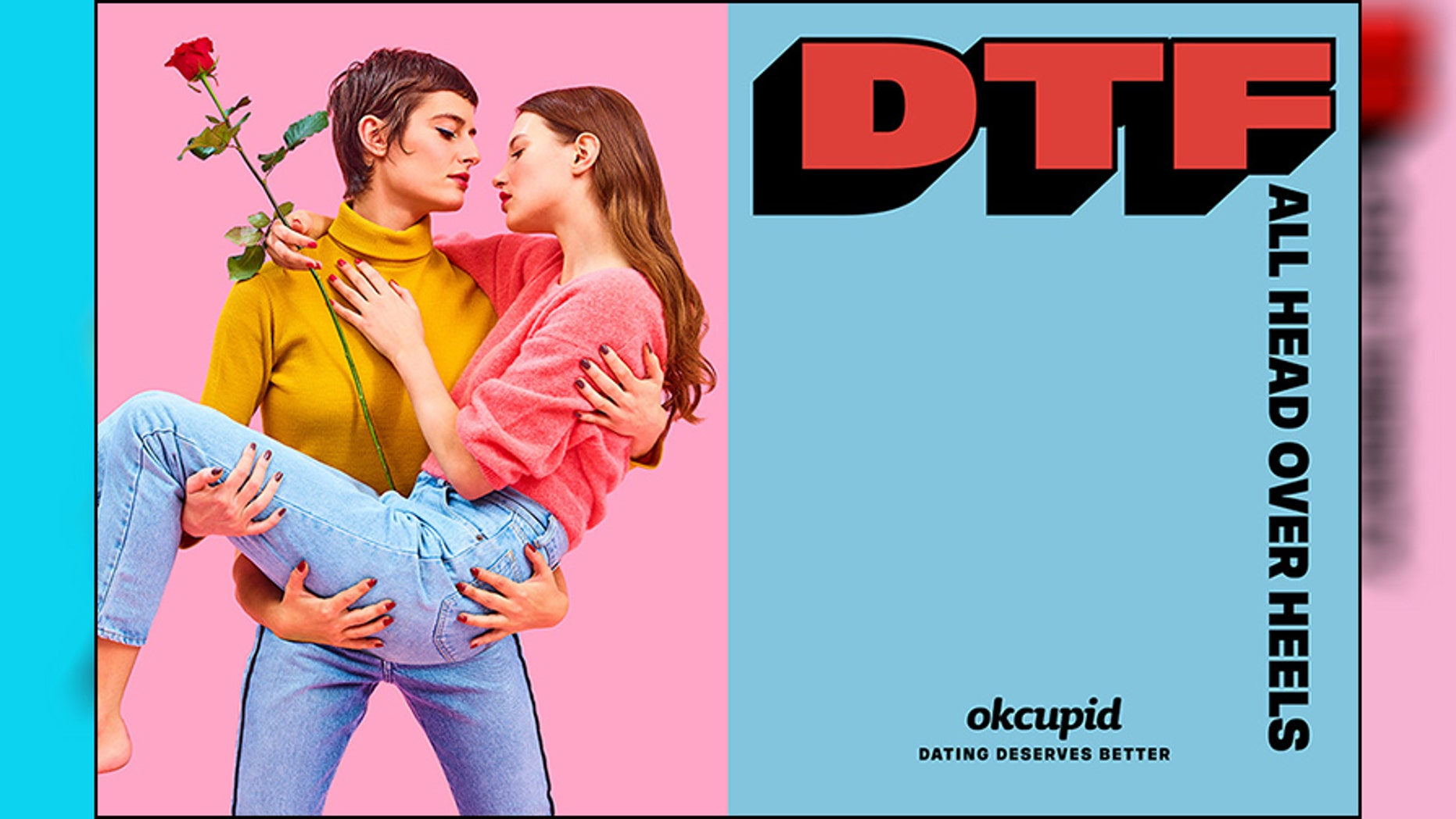 """OkCupid's new """"DTF"""" ad campaign has drawn criticism from a conservative group who wants it taken down."""