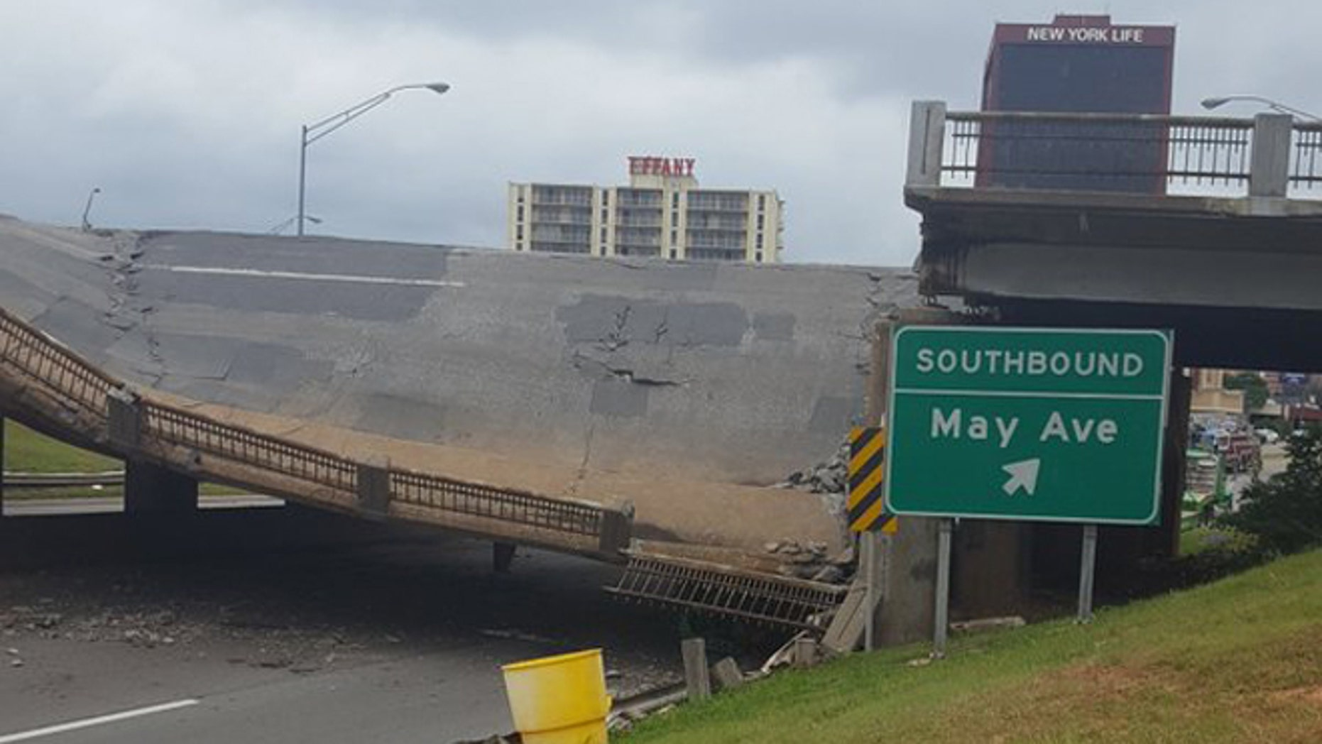 May 19, 2016: A bridge over the Northwest Expressway collapsed in Oklahoma City.