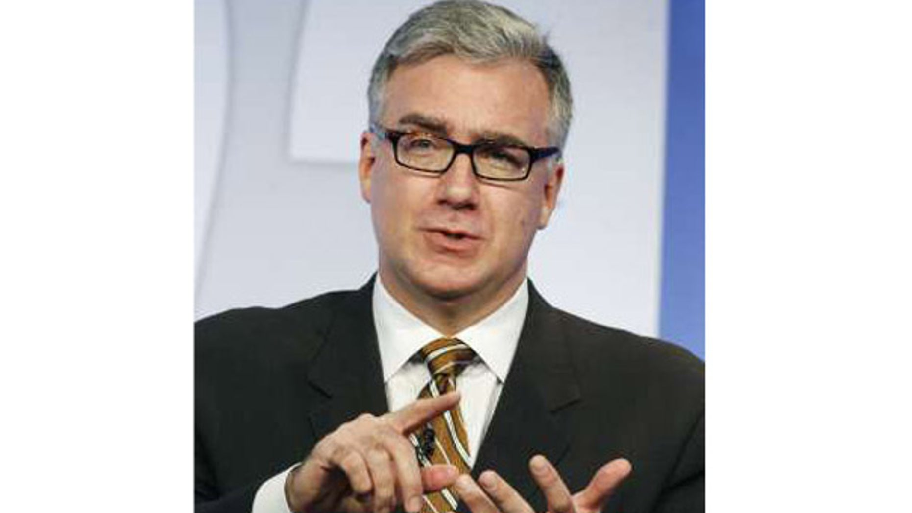 "FILE: Keith Olbermann, who was suspended Friday from his MSNBC show ""Countdown With Keith Olbermann"" speaks at an NBC Universal summer press tour in Beverly Hills on July 21, 2008."
