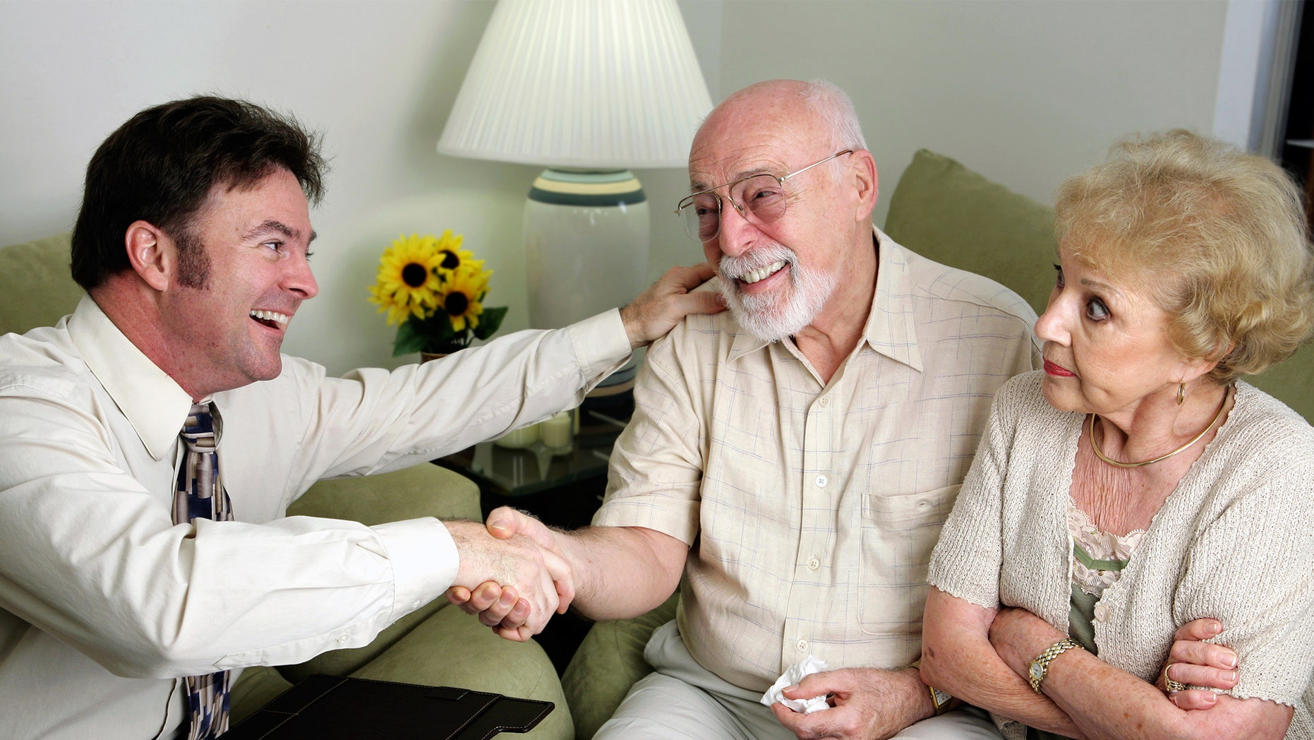 Elderly couple signed agreement