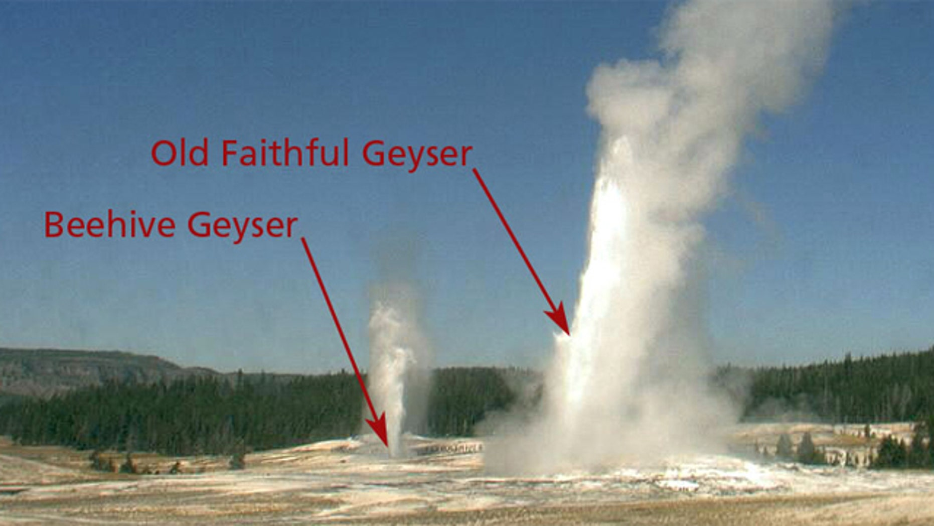 Yellowstone's iconic geyser caught erupting on the Old Faithful Webcam