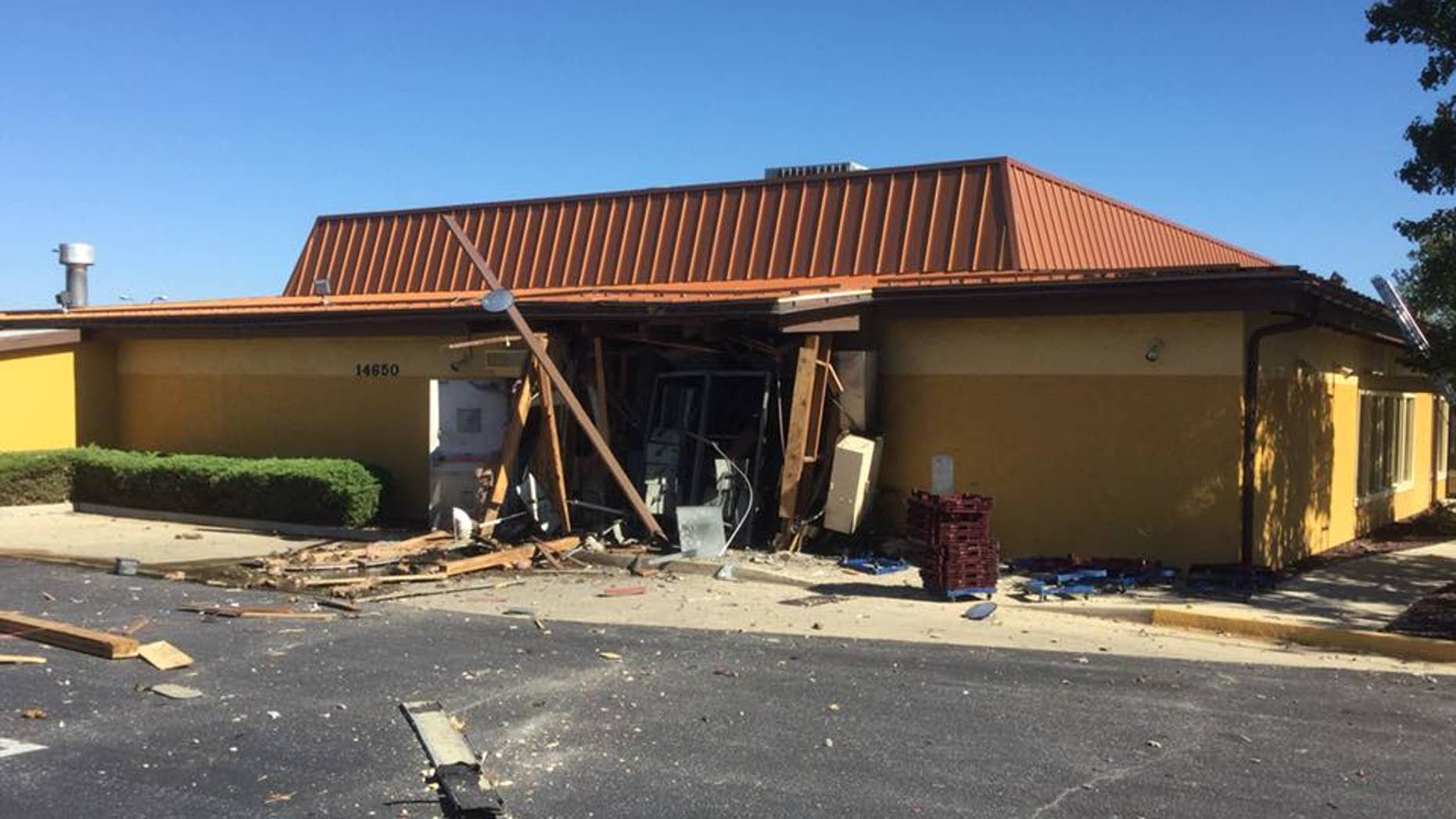 olive garden explosion puts massive hole in maryland restaurant
