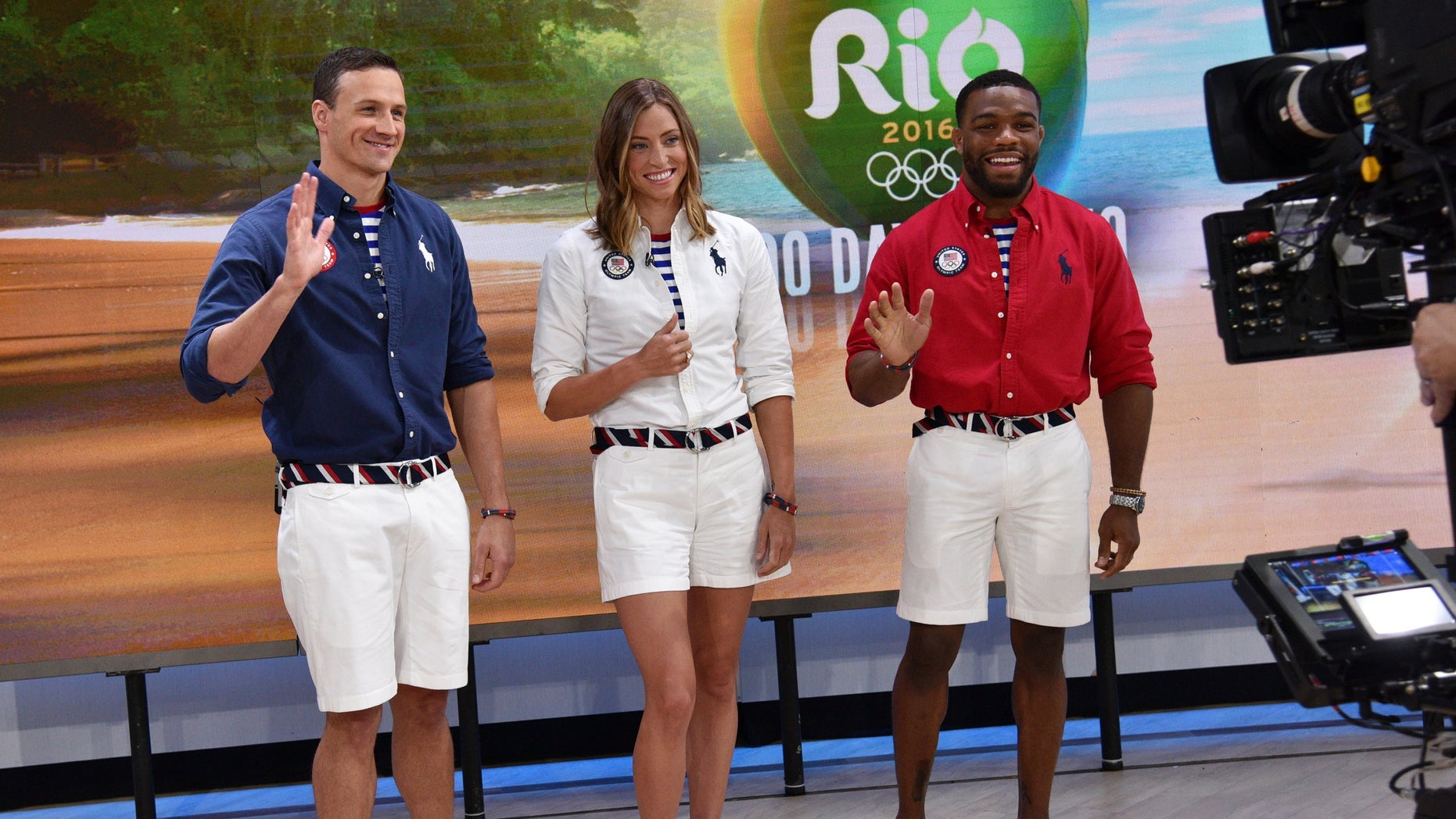U.S. Olympic athletes, from left, Ryan Lochte, Haley Anderson and Jordan Burroughs.