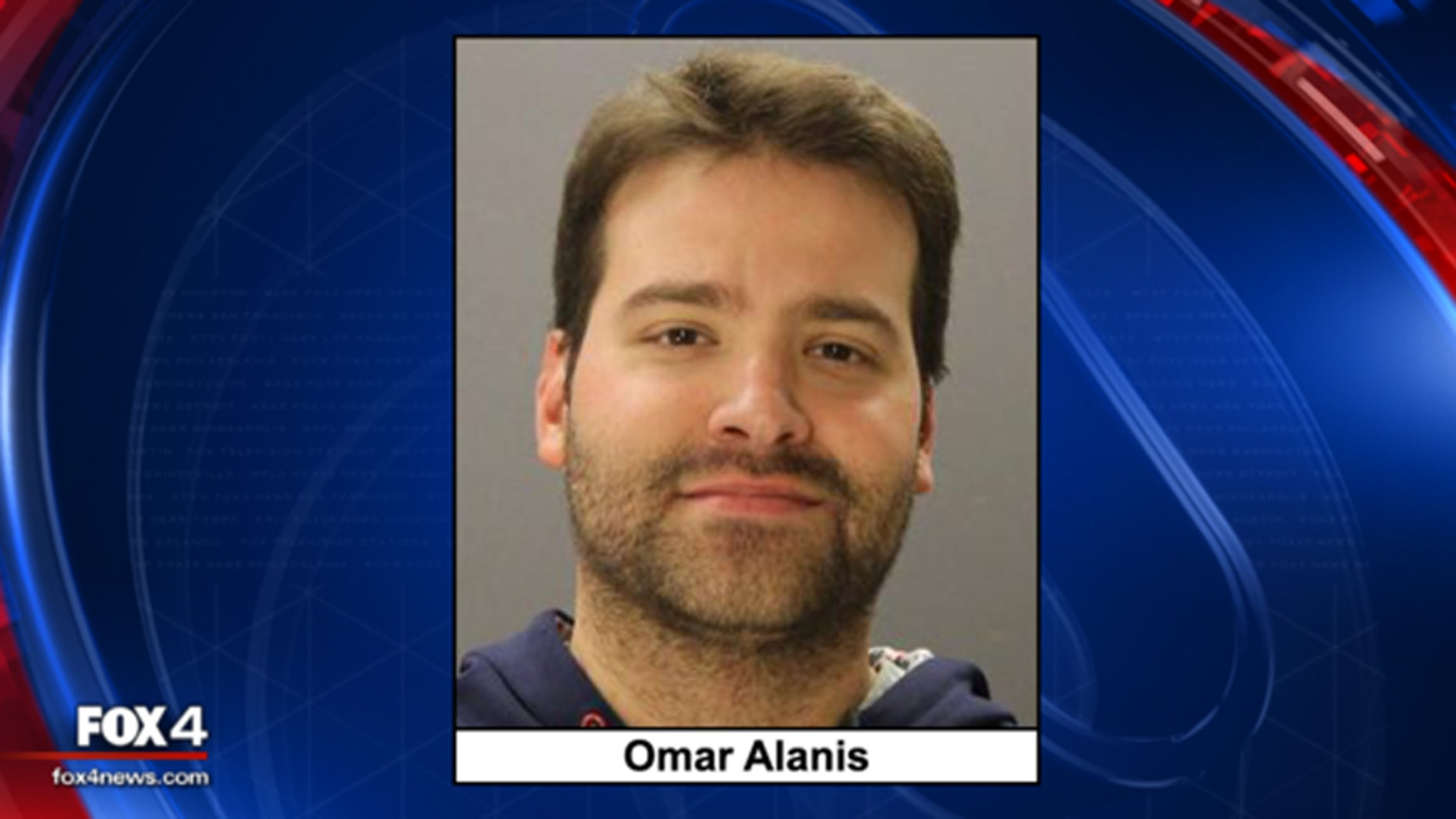 Omar Alanis, 29, who was arrested for reportedly threatening to kill the staff at a Dallas school if he didn't get a raise.