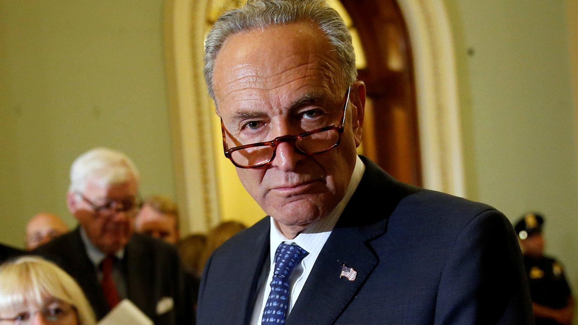 FILE: Senate Minority Leader Chuck Schumer in Washington last week.