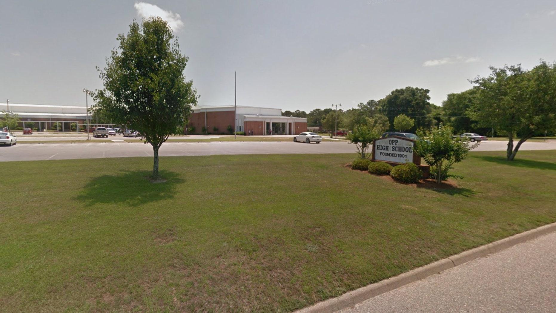 Opp High School in Opp, Alabama.
