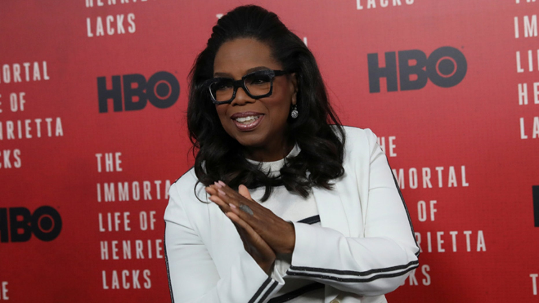"Oprah Winfrey at the premiere of ""The Immortal Life of Henrietta Lacks"""