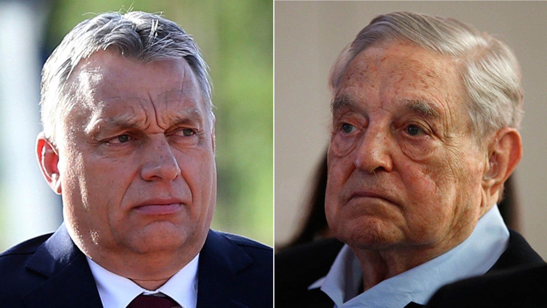 Hungarian Prime Minister Viktor Orban, left, and billionaire donor George Soros have been locked in a battle over immigration policy in the eastern European country.