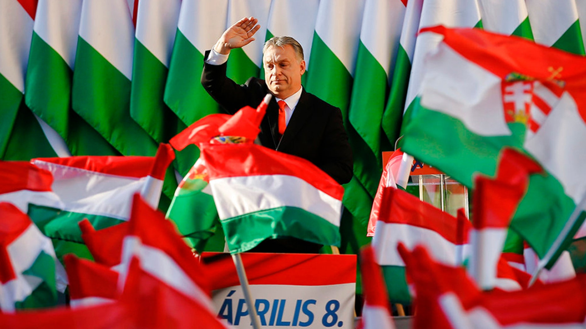 Hungarian Prime Minister Viktor Orban's Fidesz Party won a supermajority in elections in April.