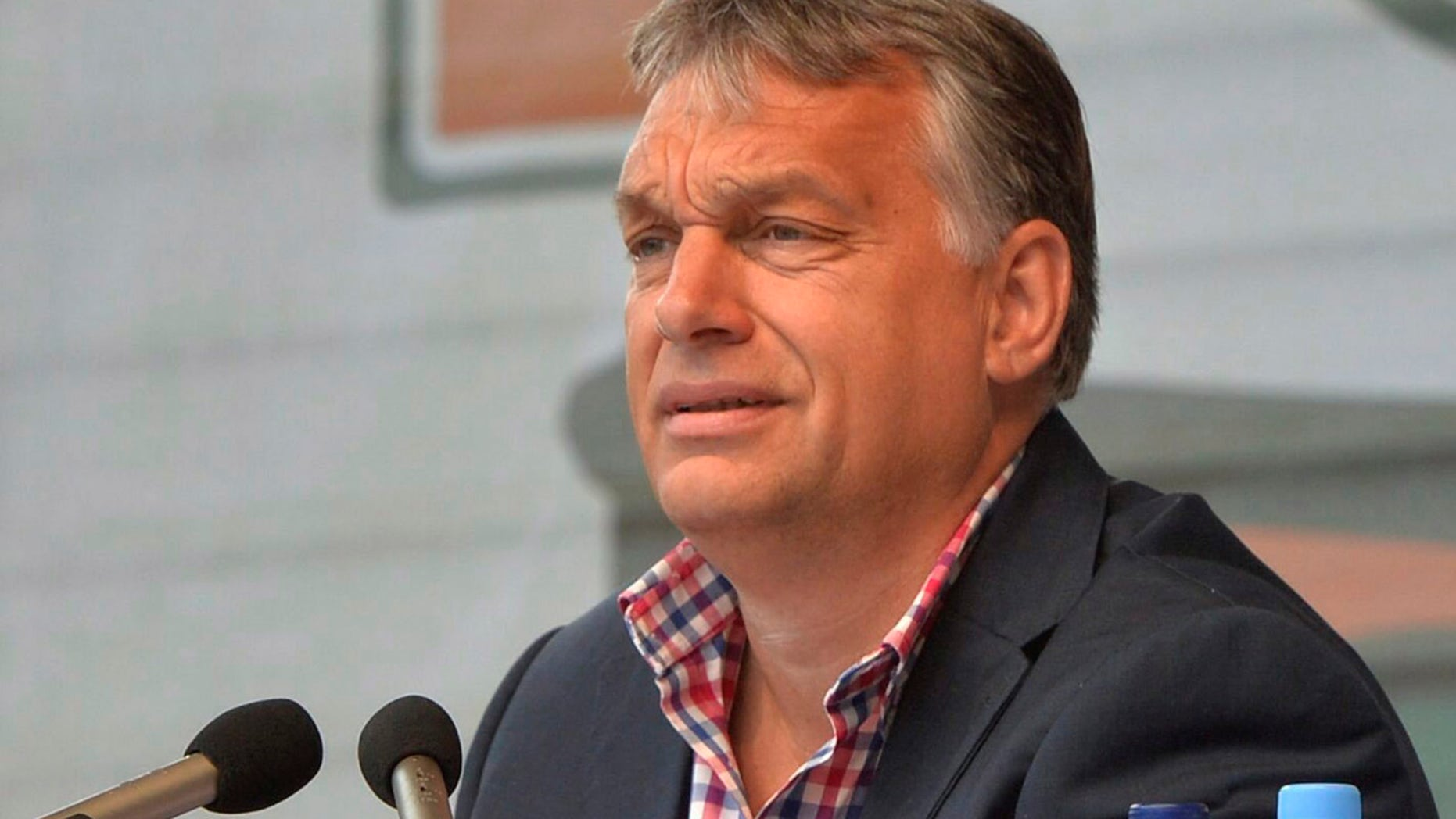 July 23, 2016: Hungarian Prime Minister Viktor Orban delivers his speech during the 27th Balvanyos Summer University and Students' Camp in Baile Tusnad, Romania.