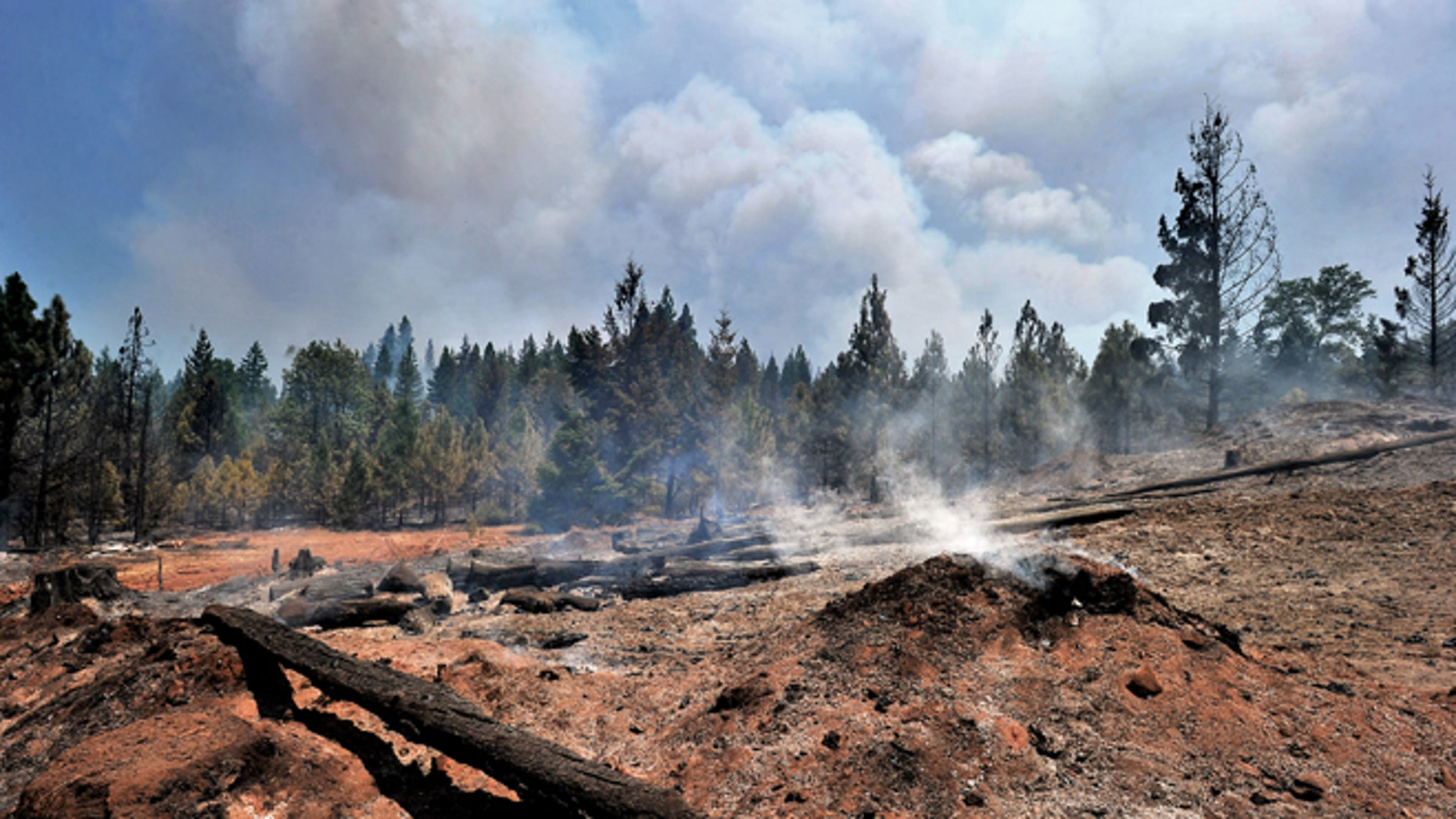Aug. 1, 2014: The Oregon Gulch fire burns in the Cascade-Siskiyou National Monument east of Ashland, Ore.