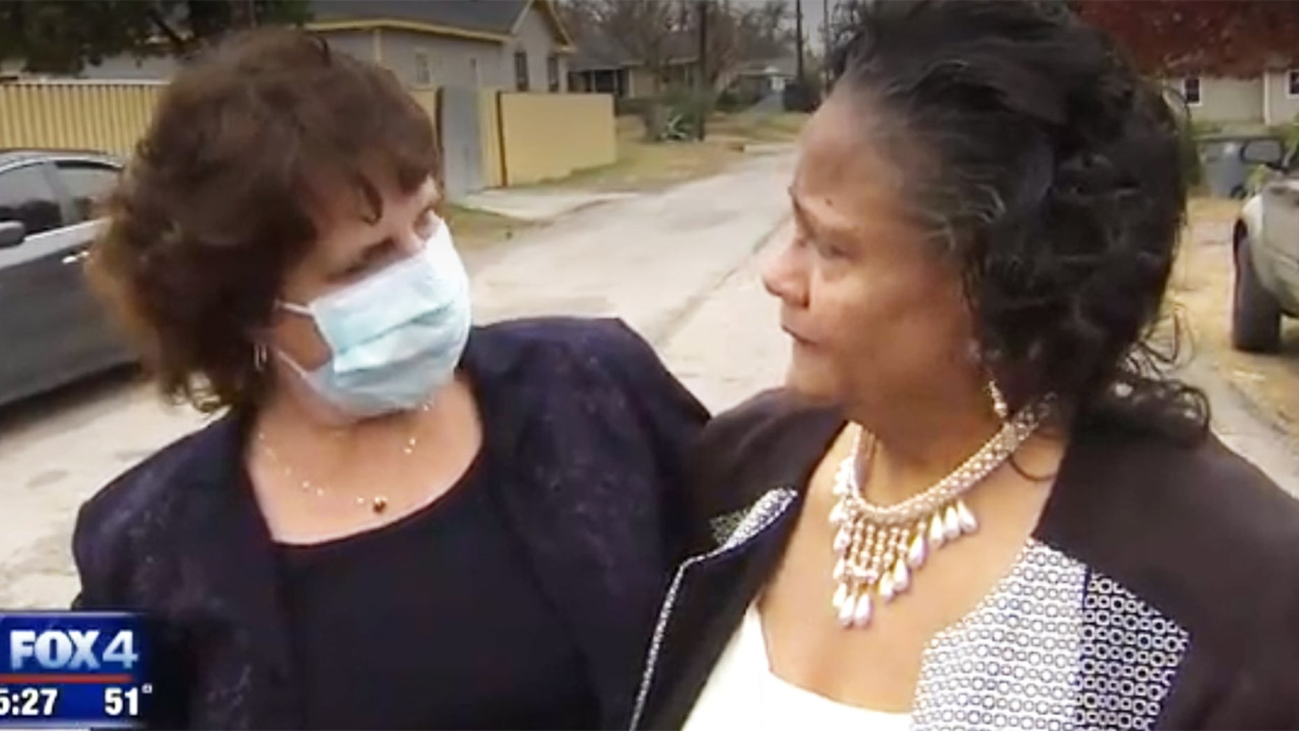 Dr. Susie Gerik, left, met Brenda Stuart, the grandmother of Roy Stuart, whose liver saved Gerik's life.