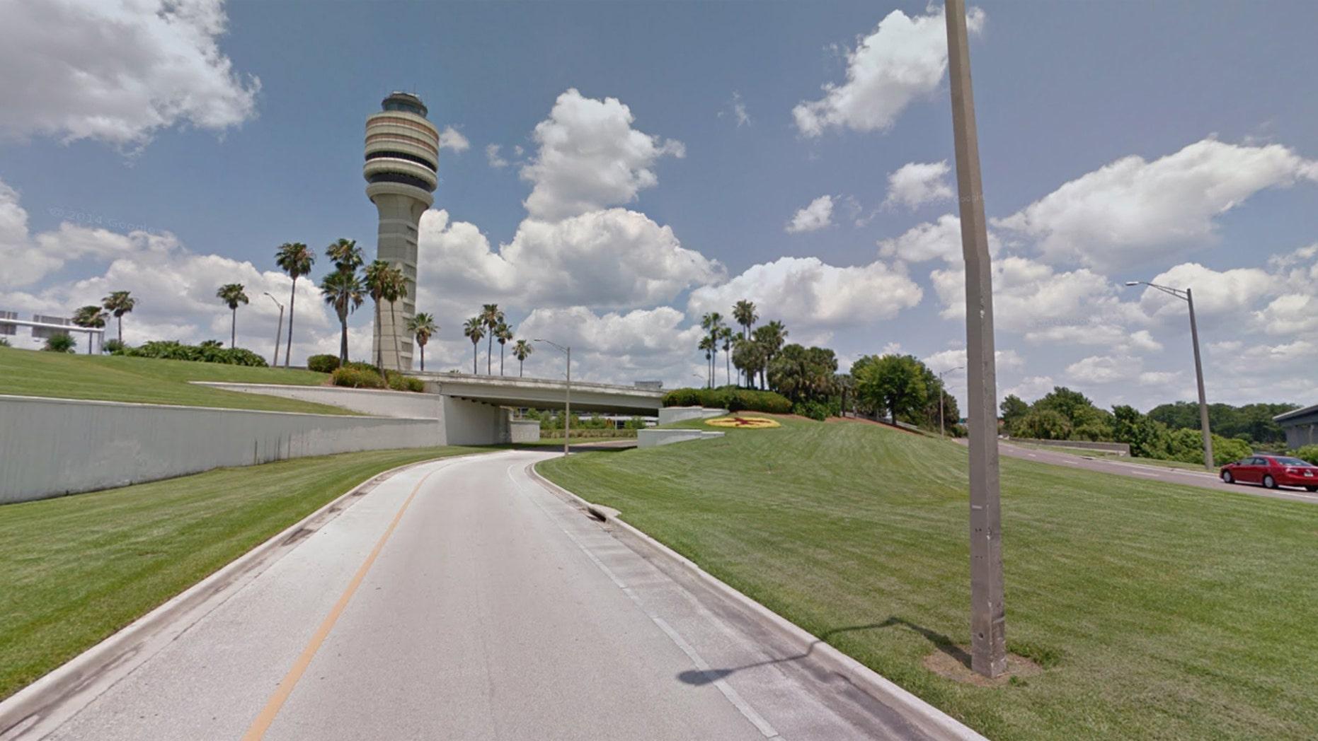 The exterior of the Orlando International Airport