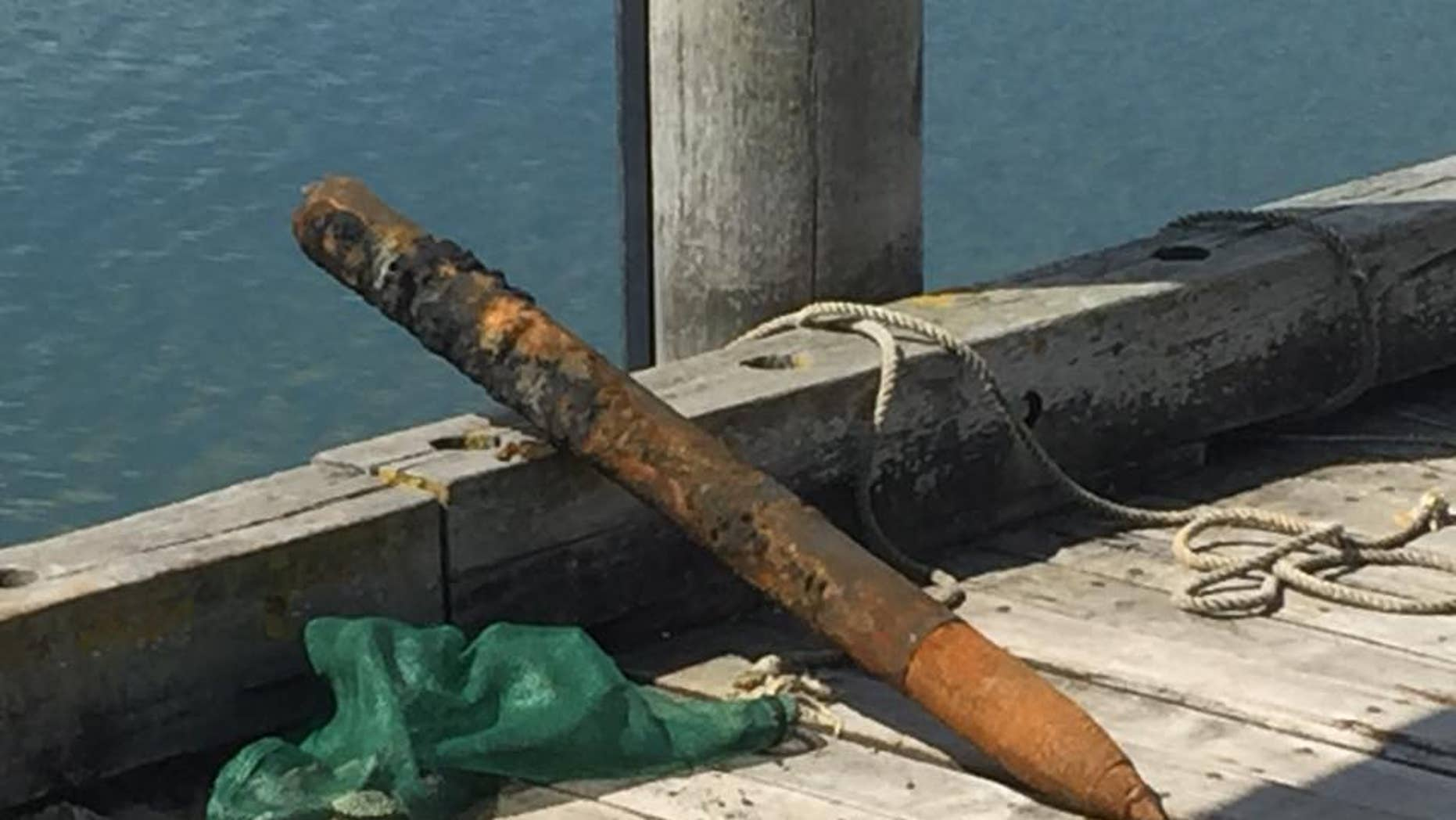 The fishermen found the missile while searching for clams, Lt. Higgins said.