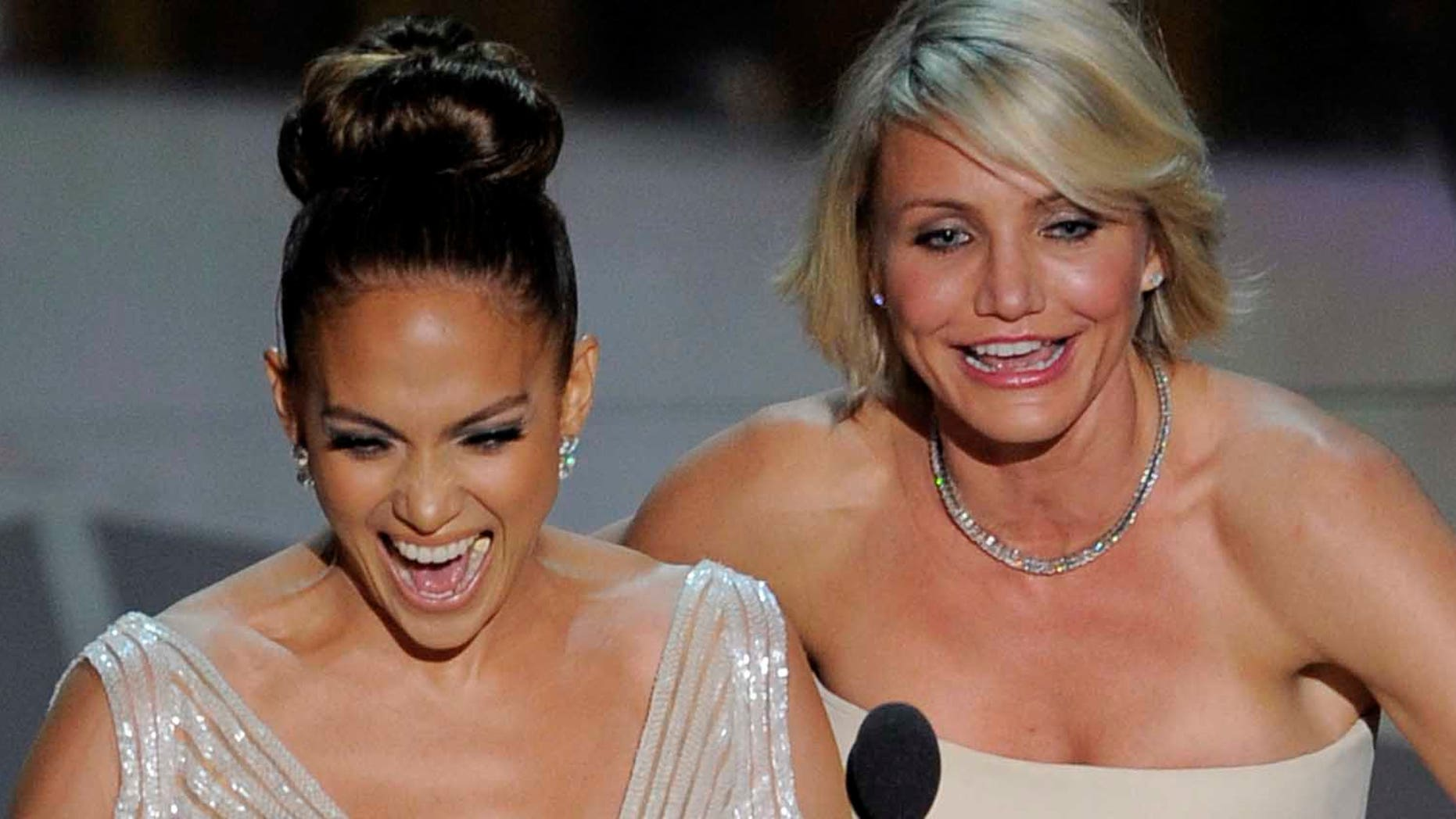 Feb. 26, 2012: Jennifer Lopez, left, and Cameron Diaz present an award during the 84th Academy Awards in the Hollywood section of Los Angeles.