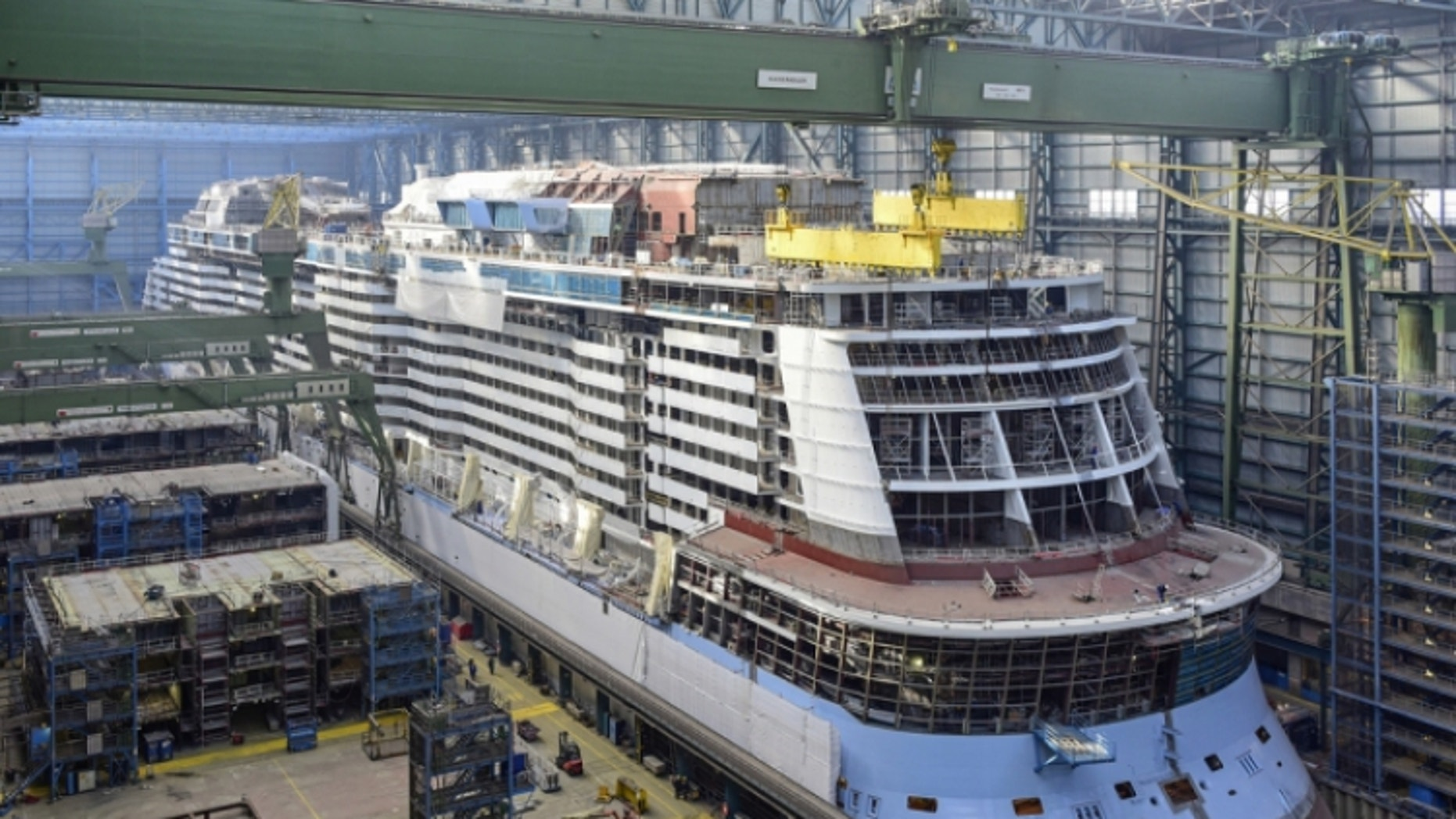 The Ovation of the Seas will launch April 2016.