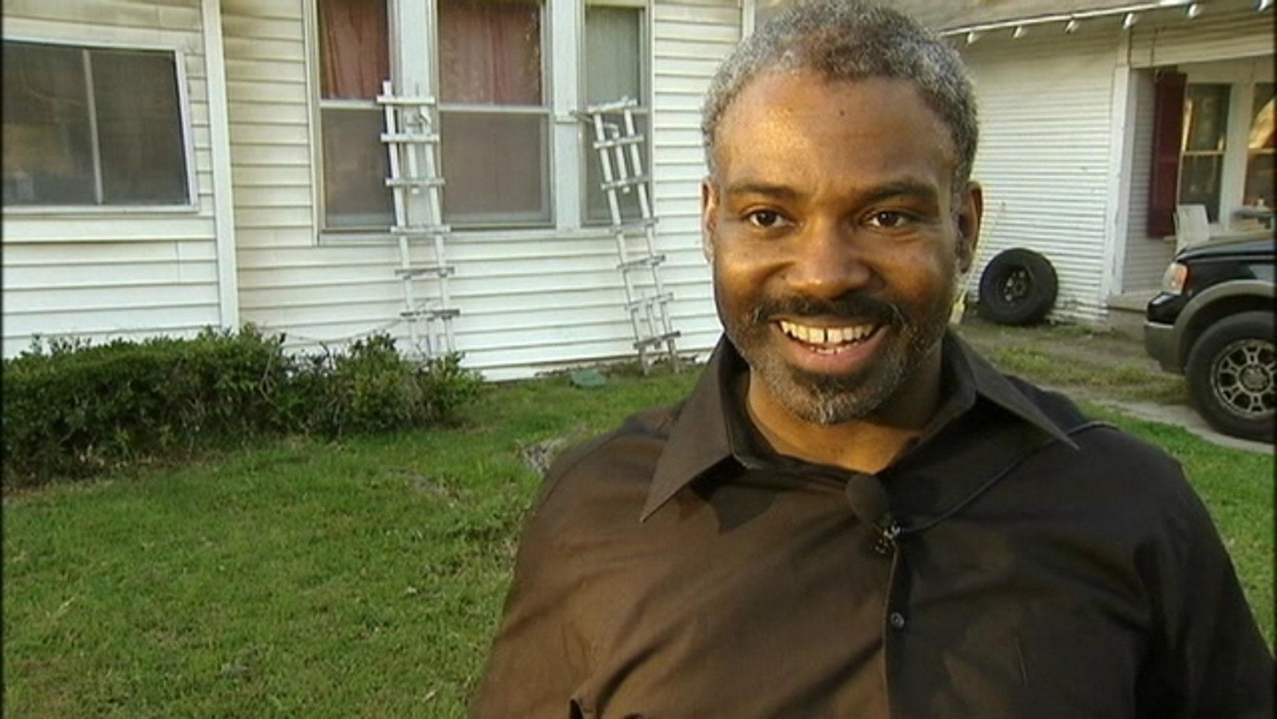 Walmart greeter Marcus Polk, 43.
