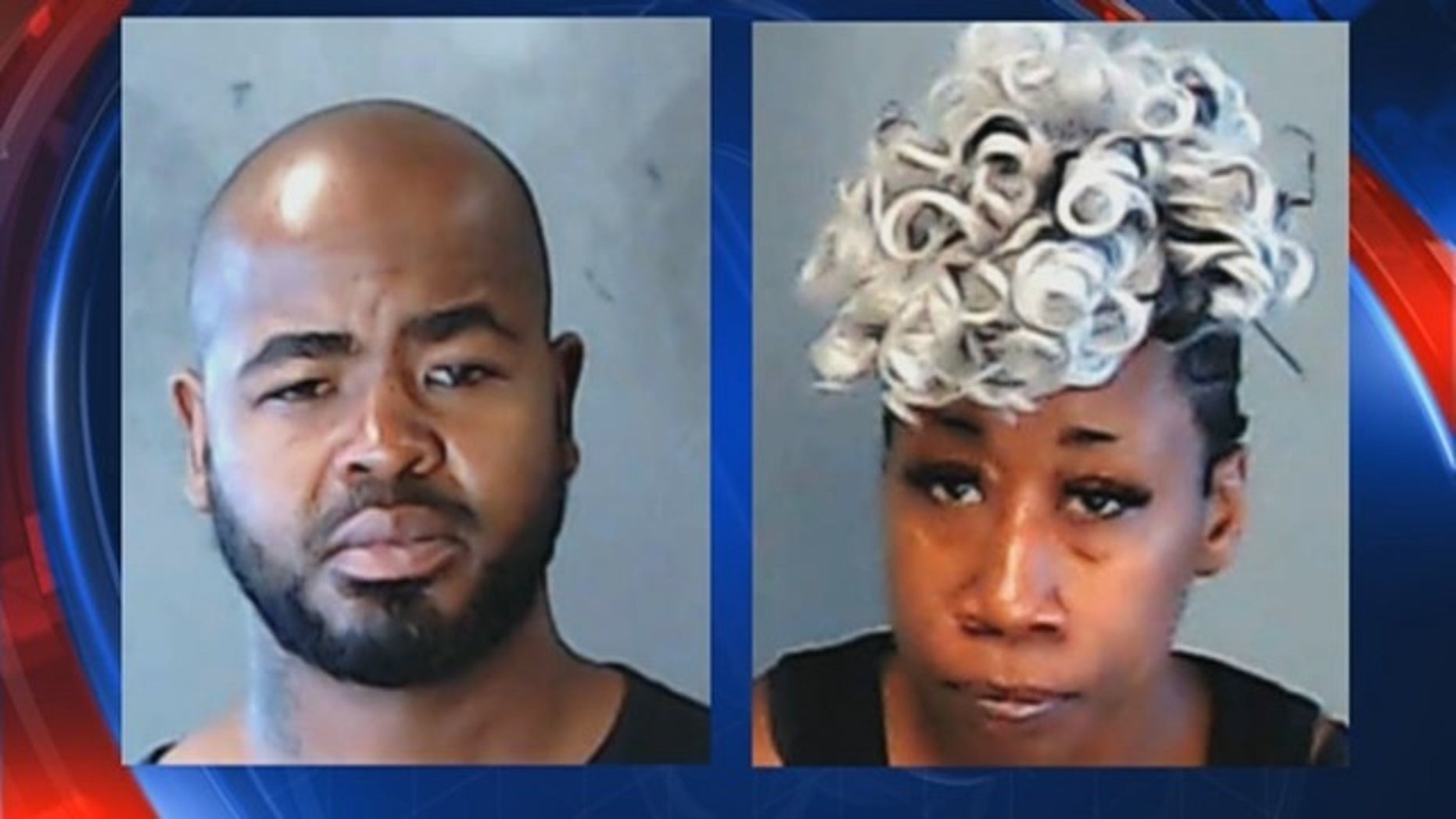 Thomas Charles Young, 42, left, and Tamara Raychell McGowan, 38, right, are in custody after being accused of holding two children captive, Georgia police say.