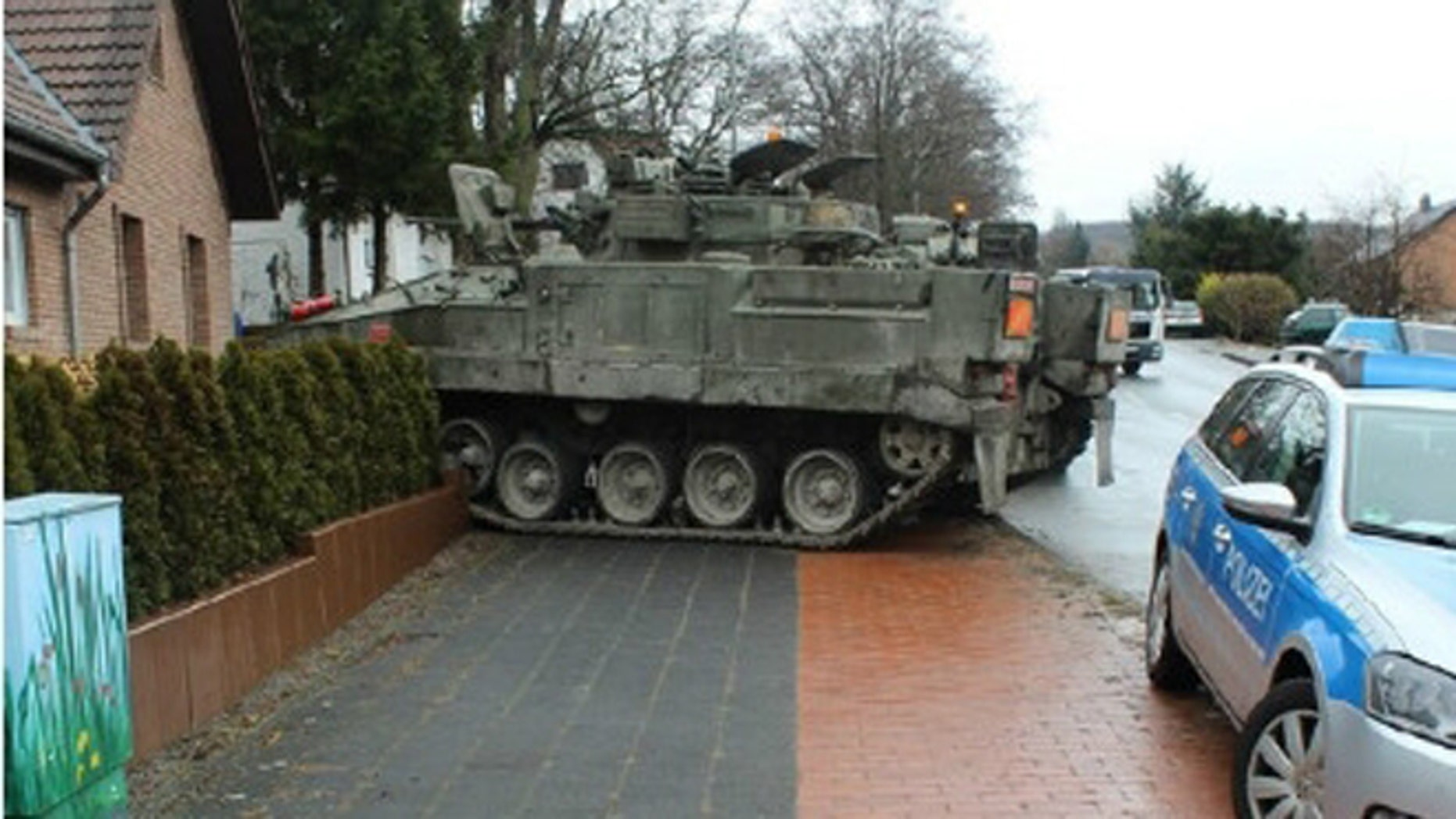 Feb. 10, 2015: Authorities say the tank crashed after suffering a technical problem.