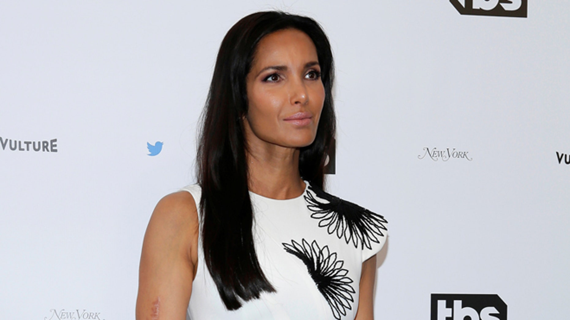 "Padma Lakshmi is embracing the curves that come with filming ""Top Chef."""