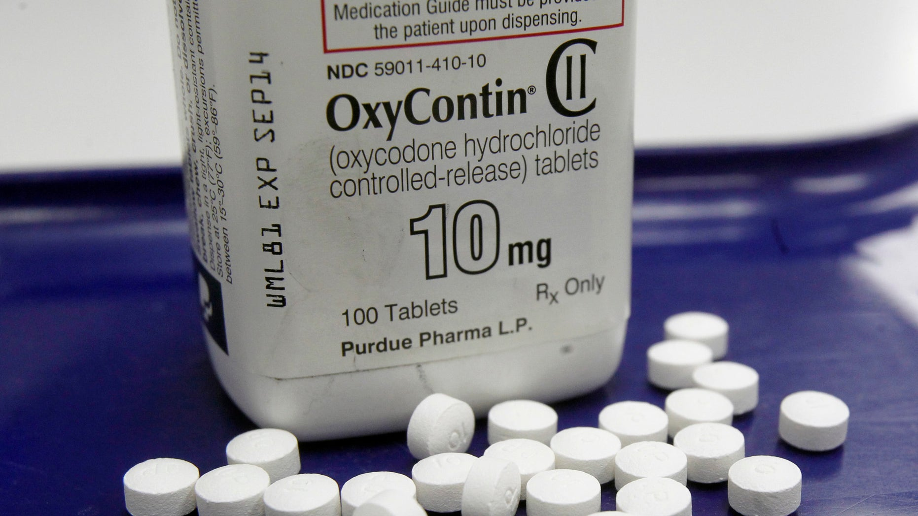 Feb. 19, 2013 – FILE photo of OxyContin pills at a pharmacy in Montpelier, Vt. (AP)