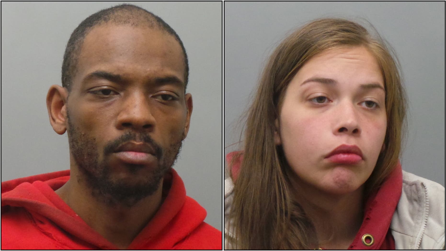 Suspects identified as Sherman Kinchen, 27, and Kimberly Cartwright, 24, both of St. Louis, face multiple charges, authorities say.