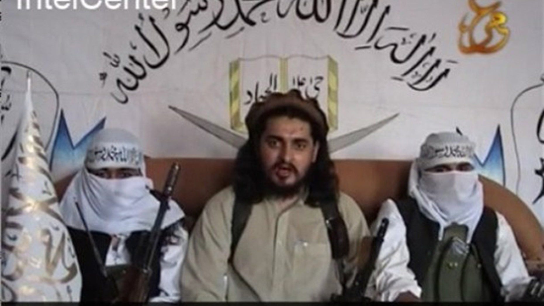This image from an undated video released by the Pakistani Taliban video and provided by IntelCenter, a private contractor working for intelligence agencies, shows Pakistani Taliban chief Hakimullah Mehsud. (AP)