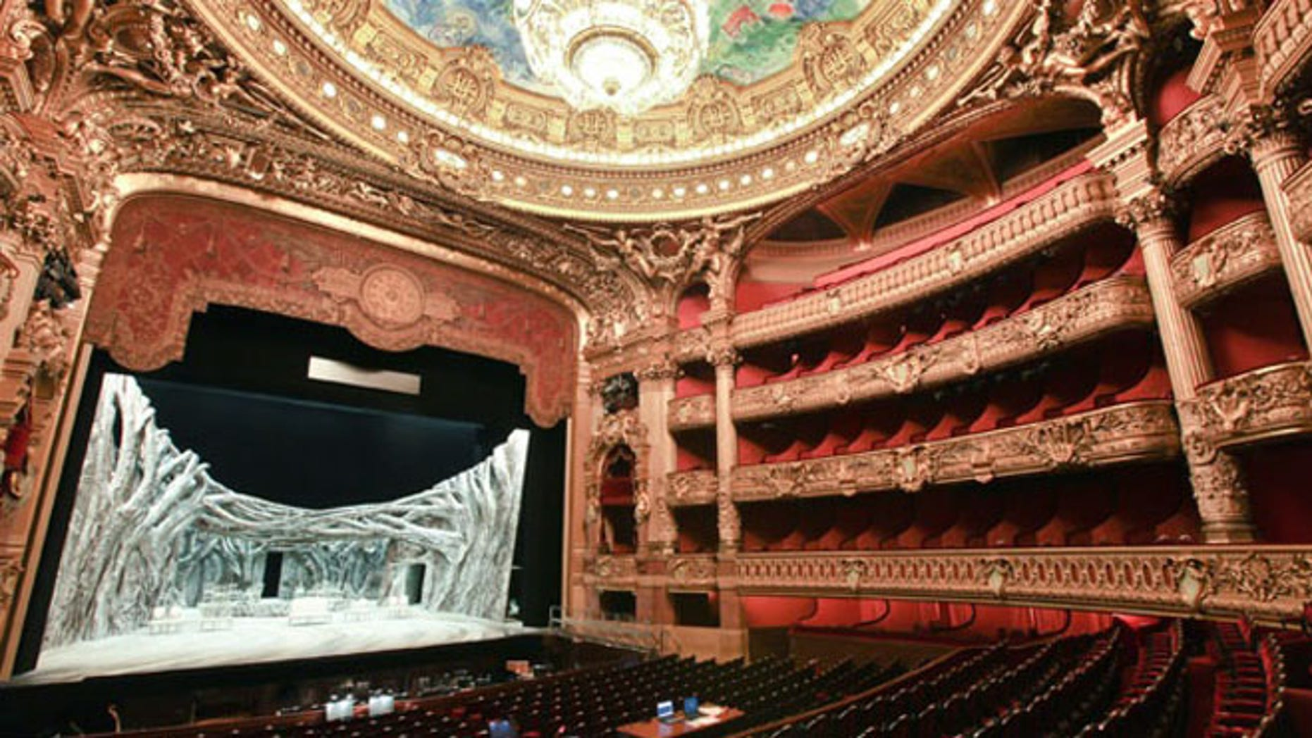 "The Paris Opera's Palais Garnier theater inspired the novel ""The Phantom of the Opera"" when a mysterious apartment (and, by some accounts, a male corpse) was discovered during renovations."