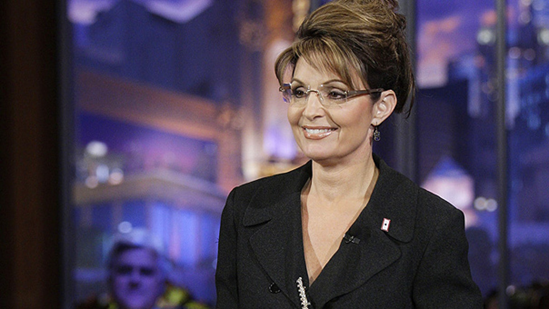 """Mar. 2: Sarah Palin cracks jokes with host Jay Leno, left, on """"The Tonight Show."""""""