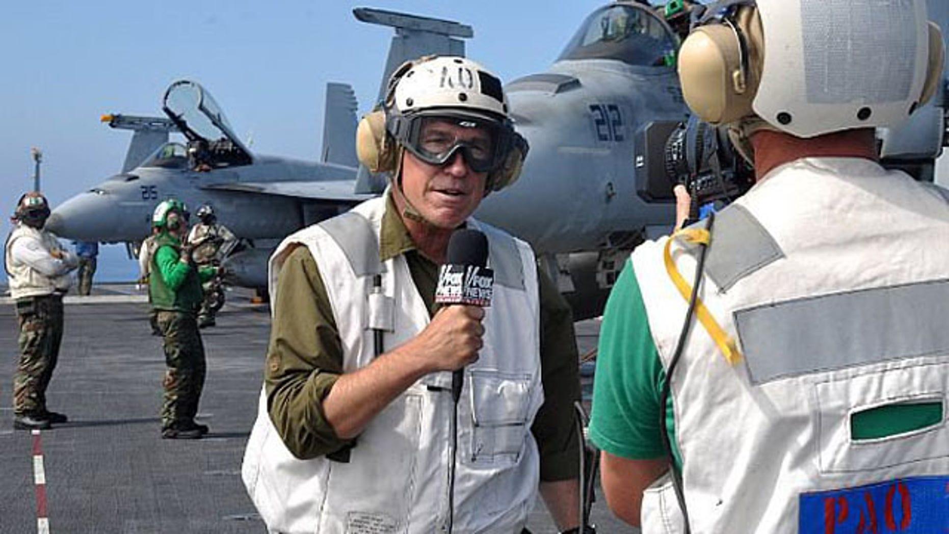 Fox correspondent Greg Palkot on his Tora Bora assignment in December 2001.
