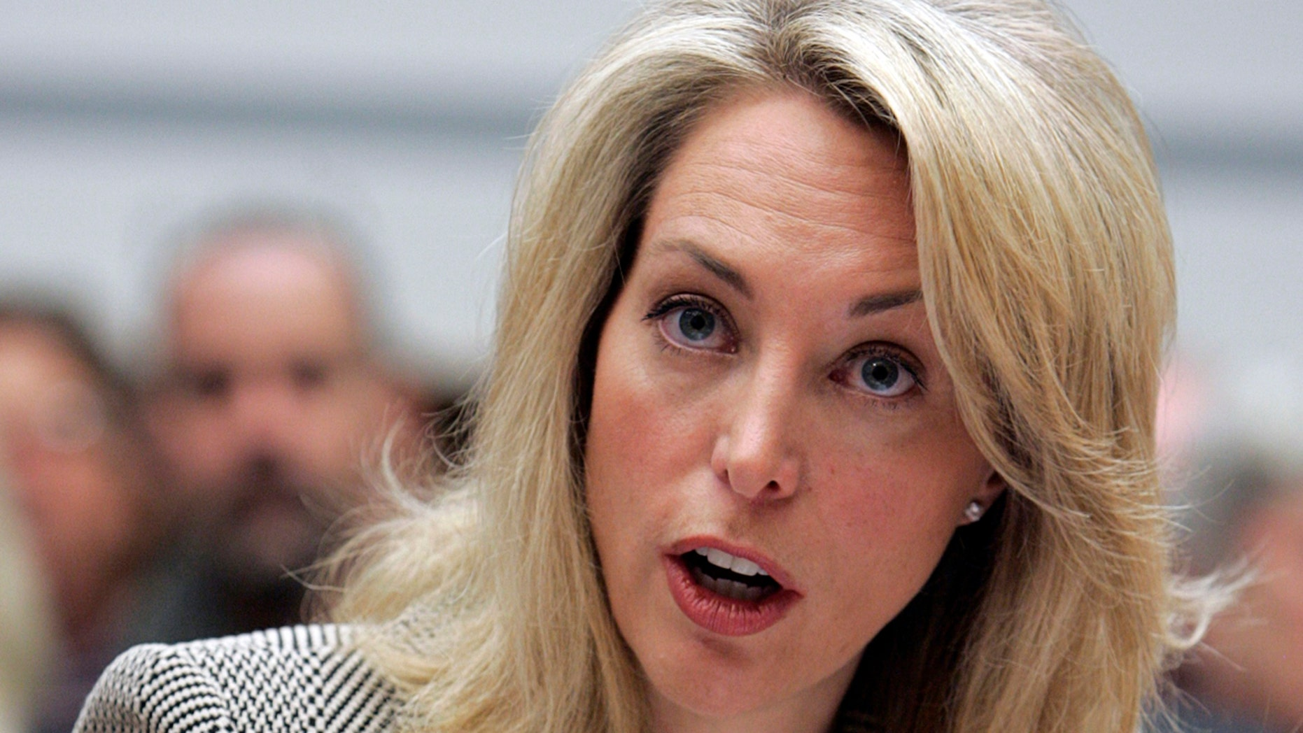 Former CIA employee Valerie Plame Wilson testifies at a House Oversight and Government Reform Committee hearing on Capitol Hill in Washington March 16, 2007. (Reuters)