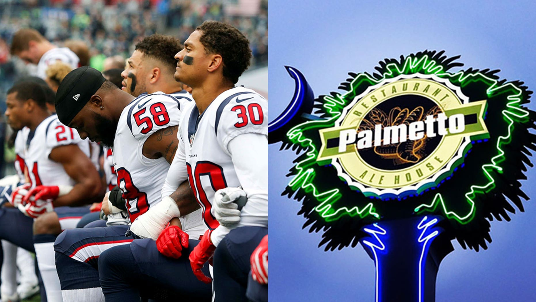 """[I] have a right as a business owner to turn off the channel, and not support a business that has allowed the disrespect of our country and our flag,"" says Palmetto Restaurant owner David McCraw."