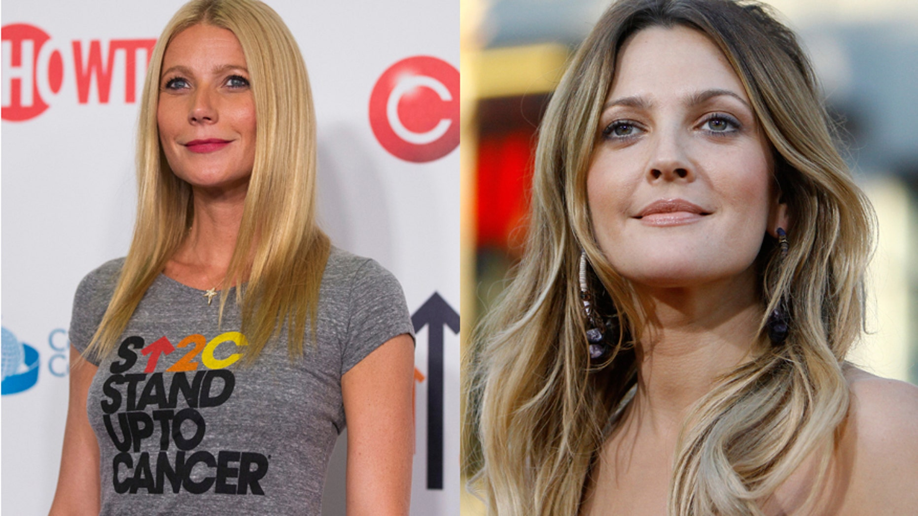 Actresses Gwynth Paltrow (left) and Drew Barrymore.