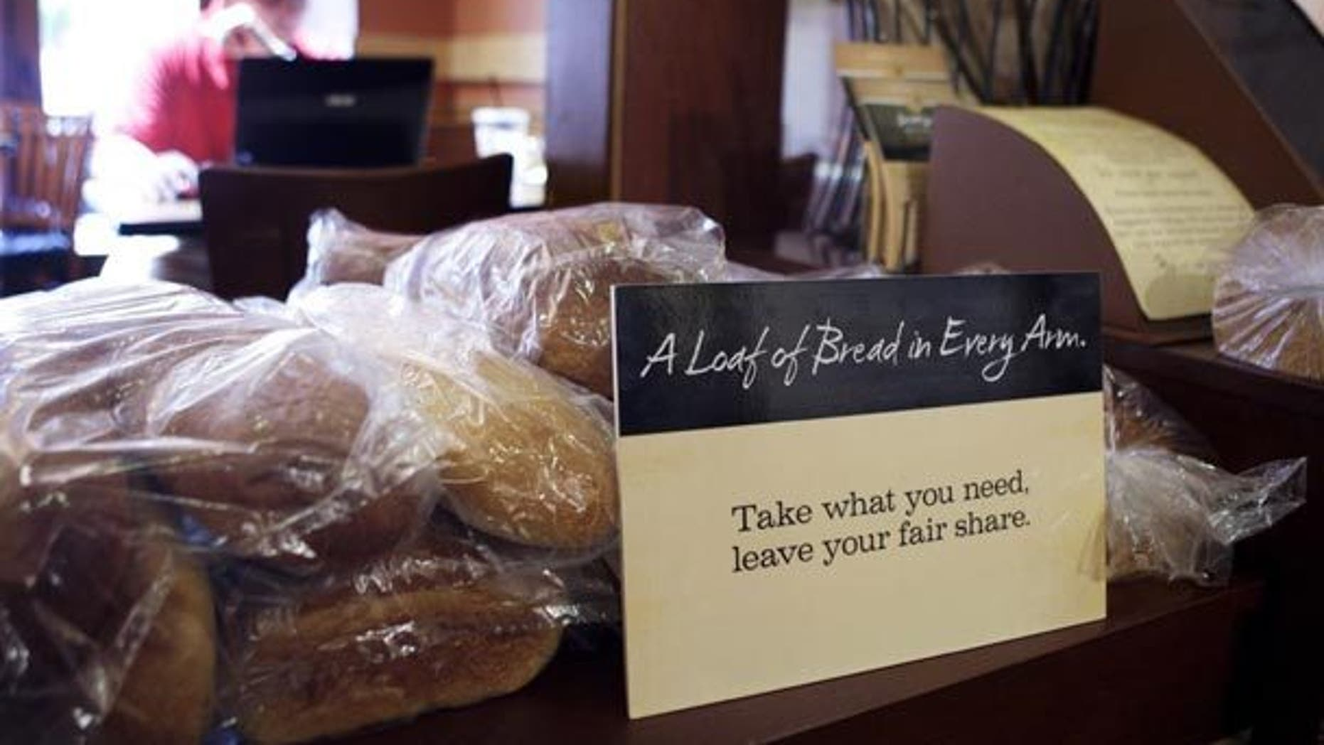 Panera Bread restaurant allows customers to pay what they want.