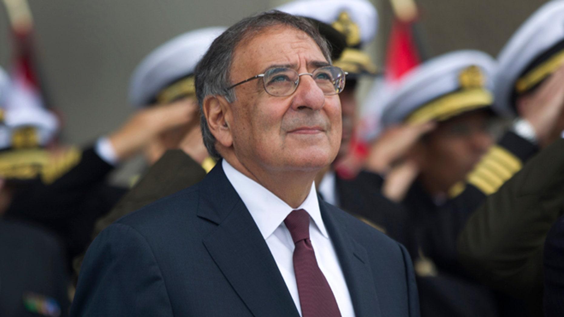 Oct. 6, 2012: U.S. Defense Secretary Leon Panetta attends a ceremony at army headquarters in Lima, Peru.