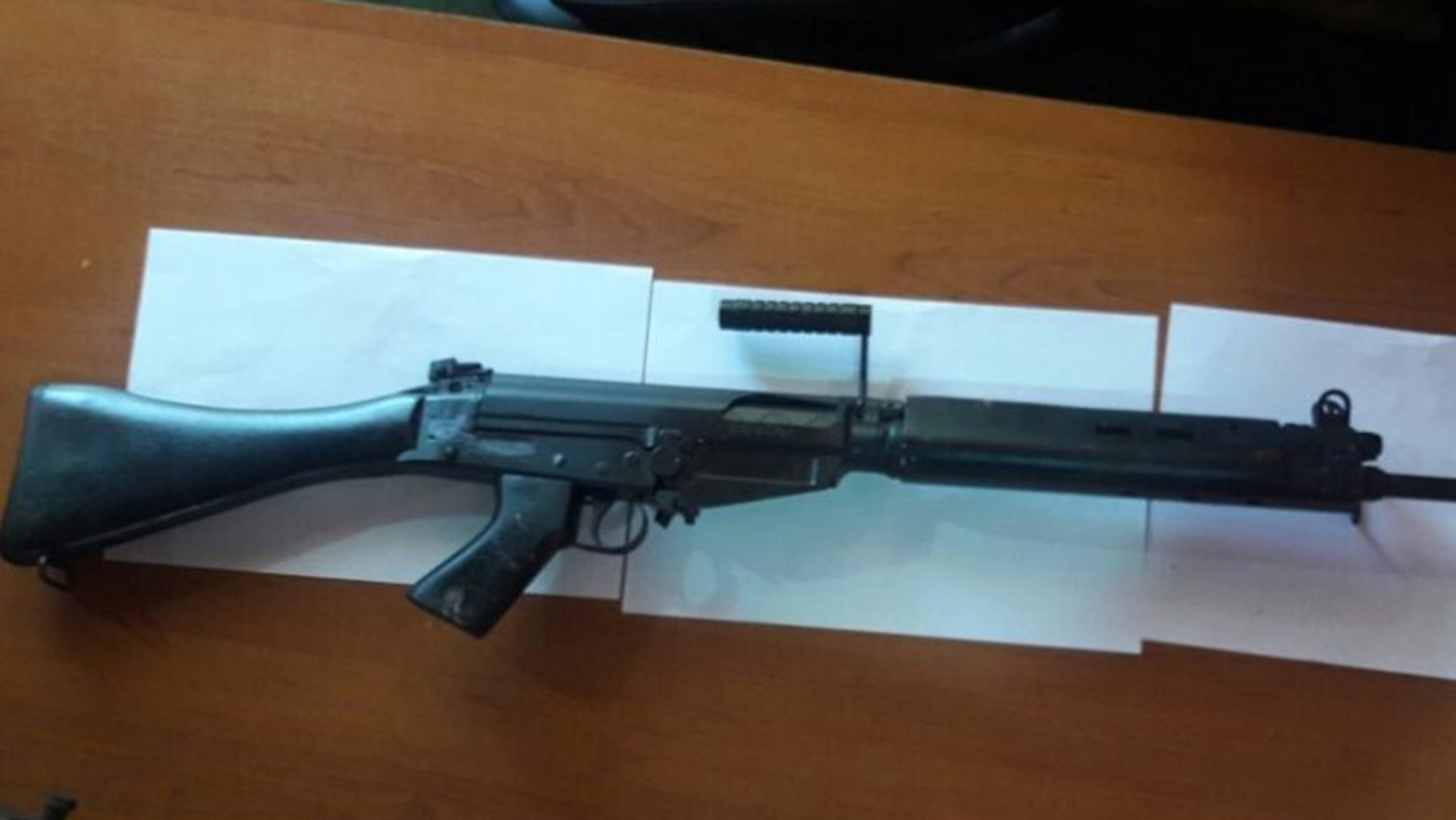 Paraguay police say thieves stole 42 rifles and replaced them with these wooden and plastic toy replicas.