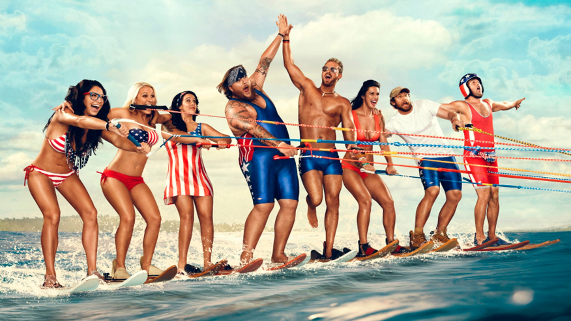 """The cast of """"Party Down South"""" poses for a promotional photo. CMT"""