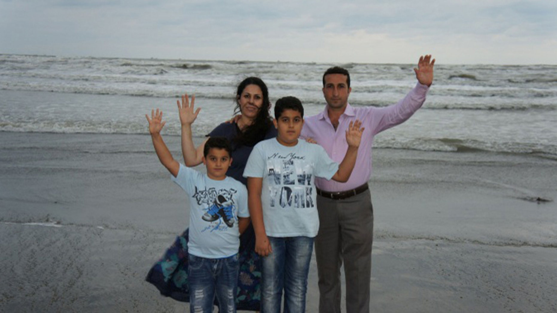 Pastor Youcef Nadarkhani and his family.