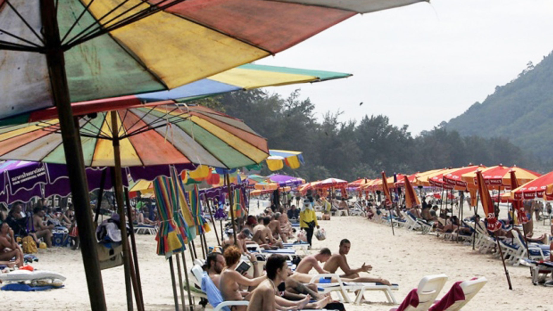 Patong beach is a popular destination for tourists in Thailand.