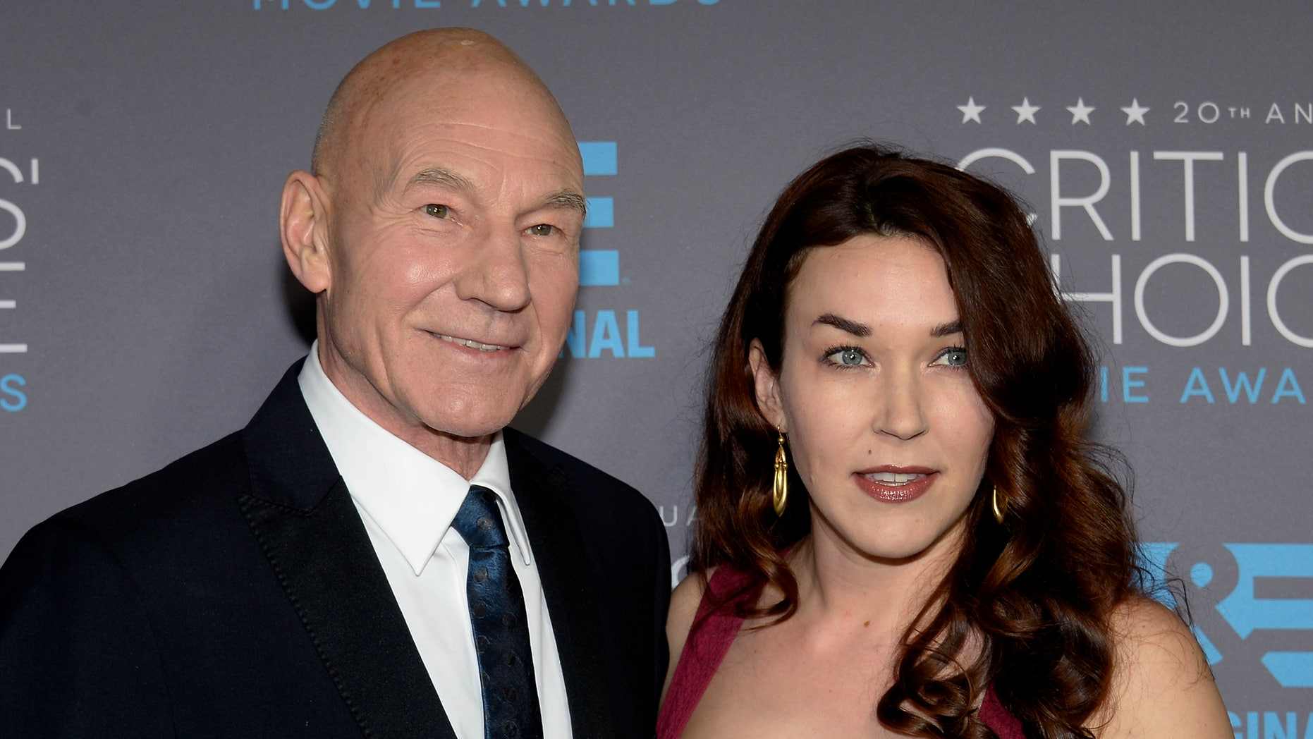 Jan 15, 2015. Patrick Stewart and his wife Sunny Ozell arrive at the 20th Annual Critics Choice Movie Awards in Los Angeles, California.
