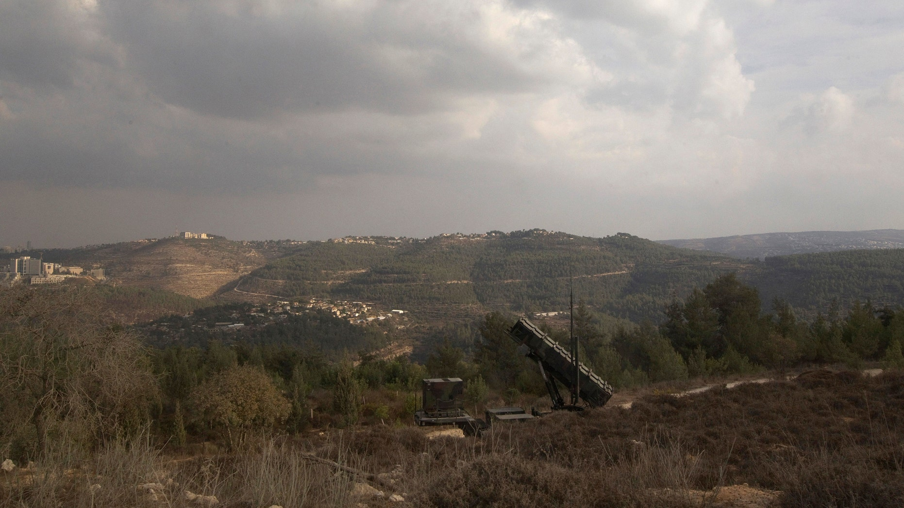 "File photo - A Patriot anti-missile battery is seen west of Jerusalem, during ""Austere Challenge 2012"", a joint Israeli-hosted exercise with U.S. forces October 23, 2012. (REUTERS/Ronen Zvulu)"